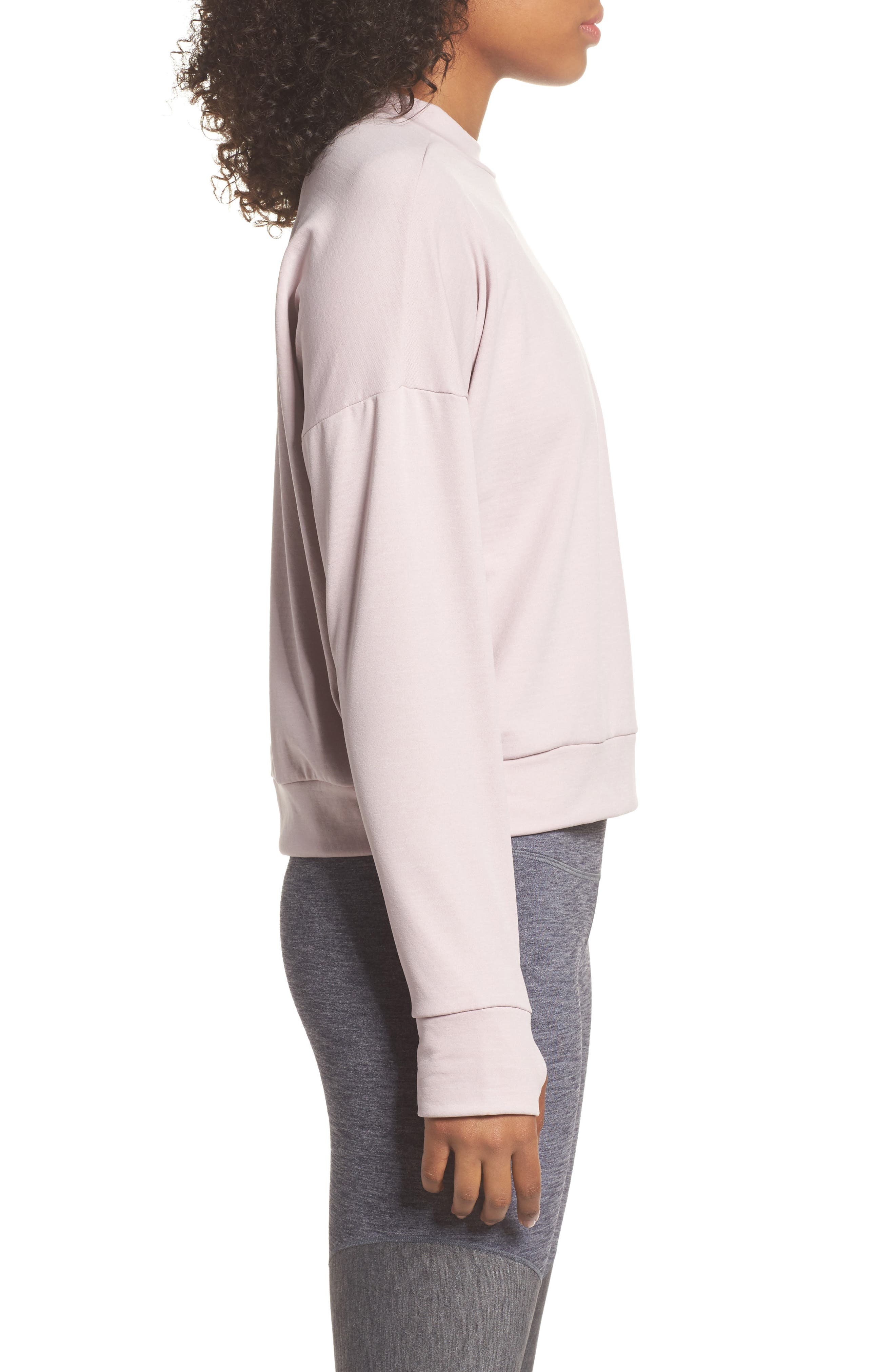 Therma Sphere Element Women's Running Top,                             Alternate thumbnail 3, color,                             Particle Rose