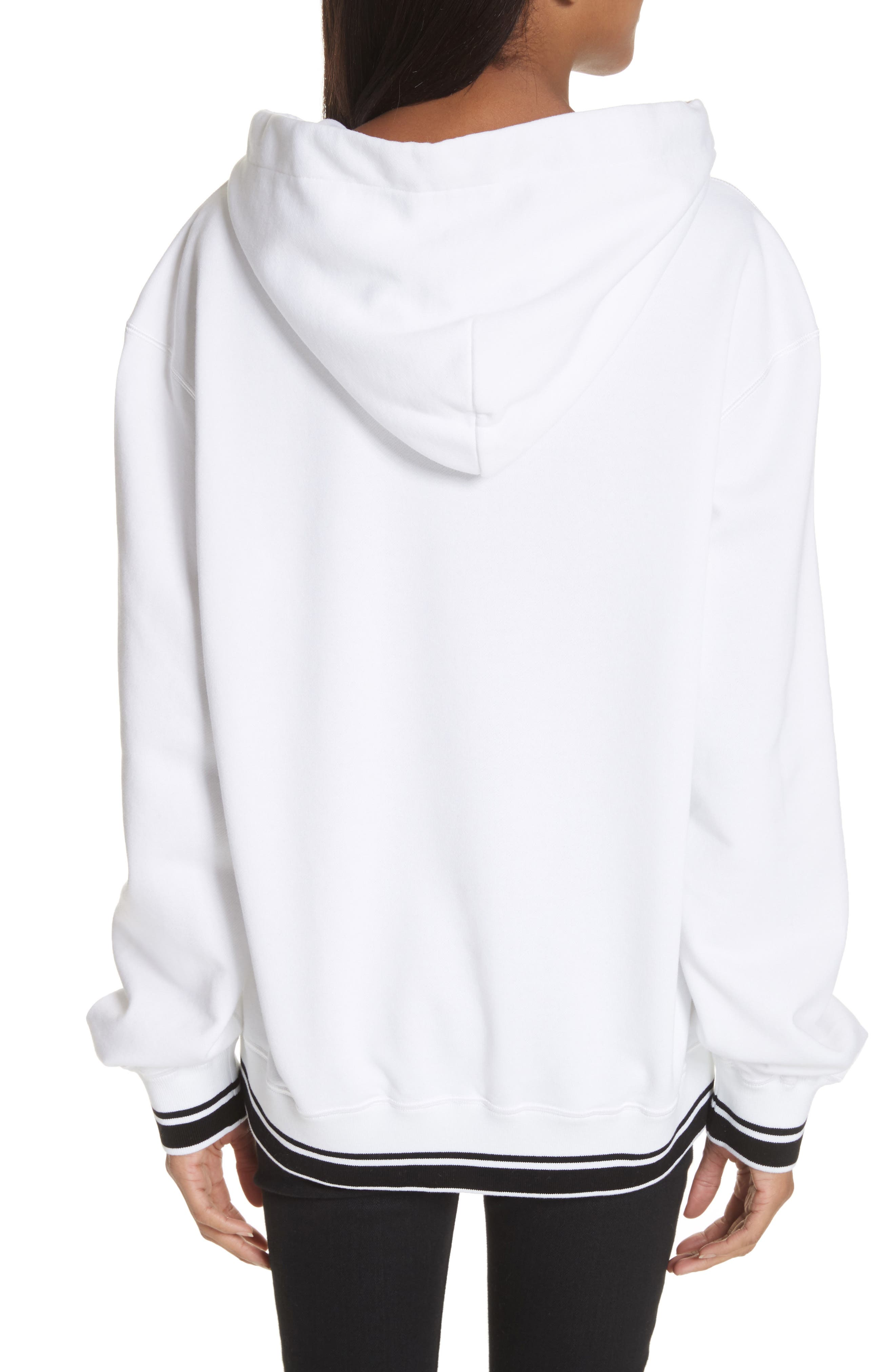 Logo Hooded Sweatshirt,                             Alternate thumbnail 2, color,                             White
