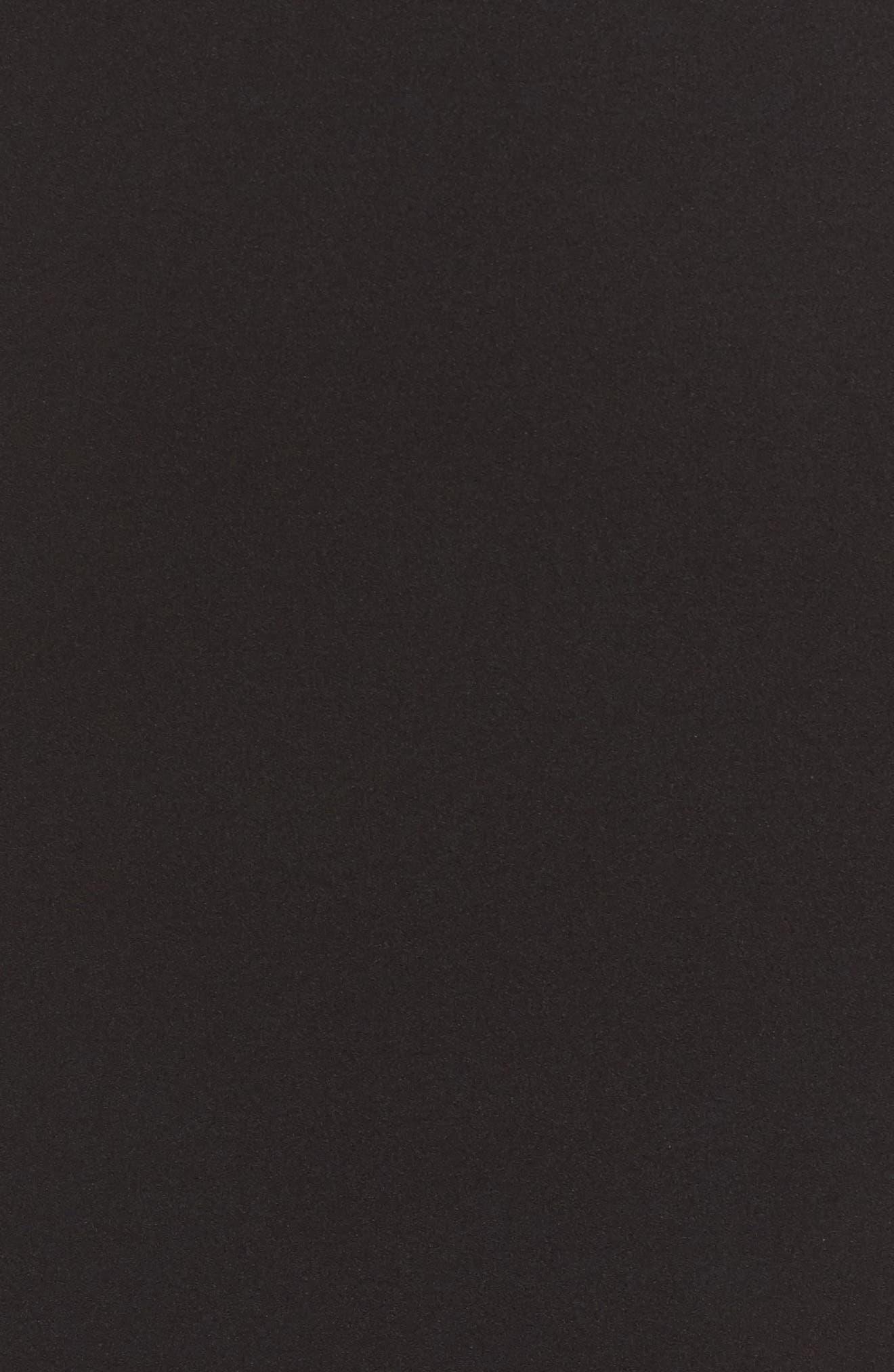 Scuba Crepe Sheath Dress,                             Alternate thumbnail 5, color,                             Black