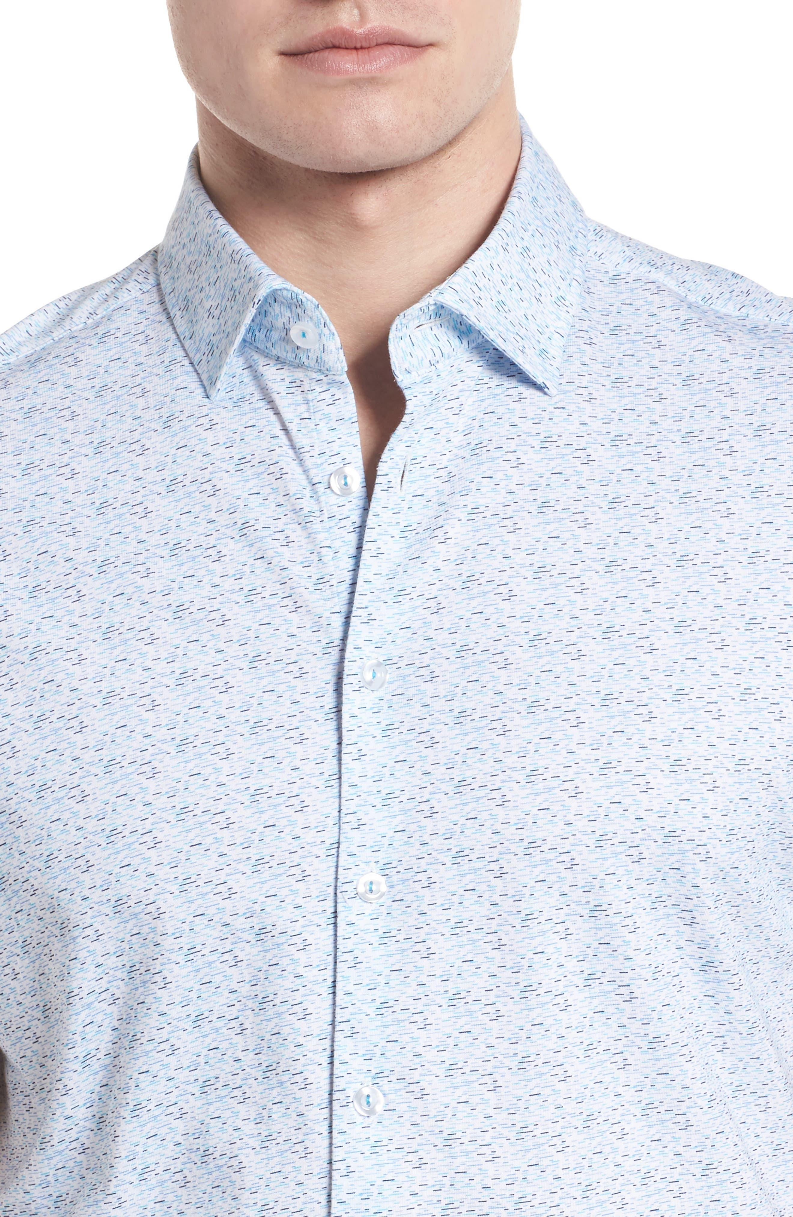 Knit Sport Shirt,                             Alternate thumbnail 4, color,                             Blue