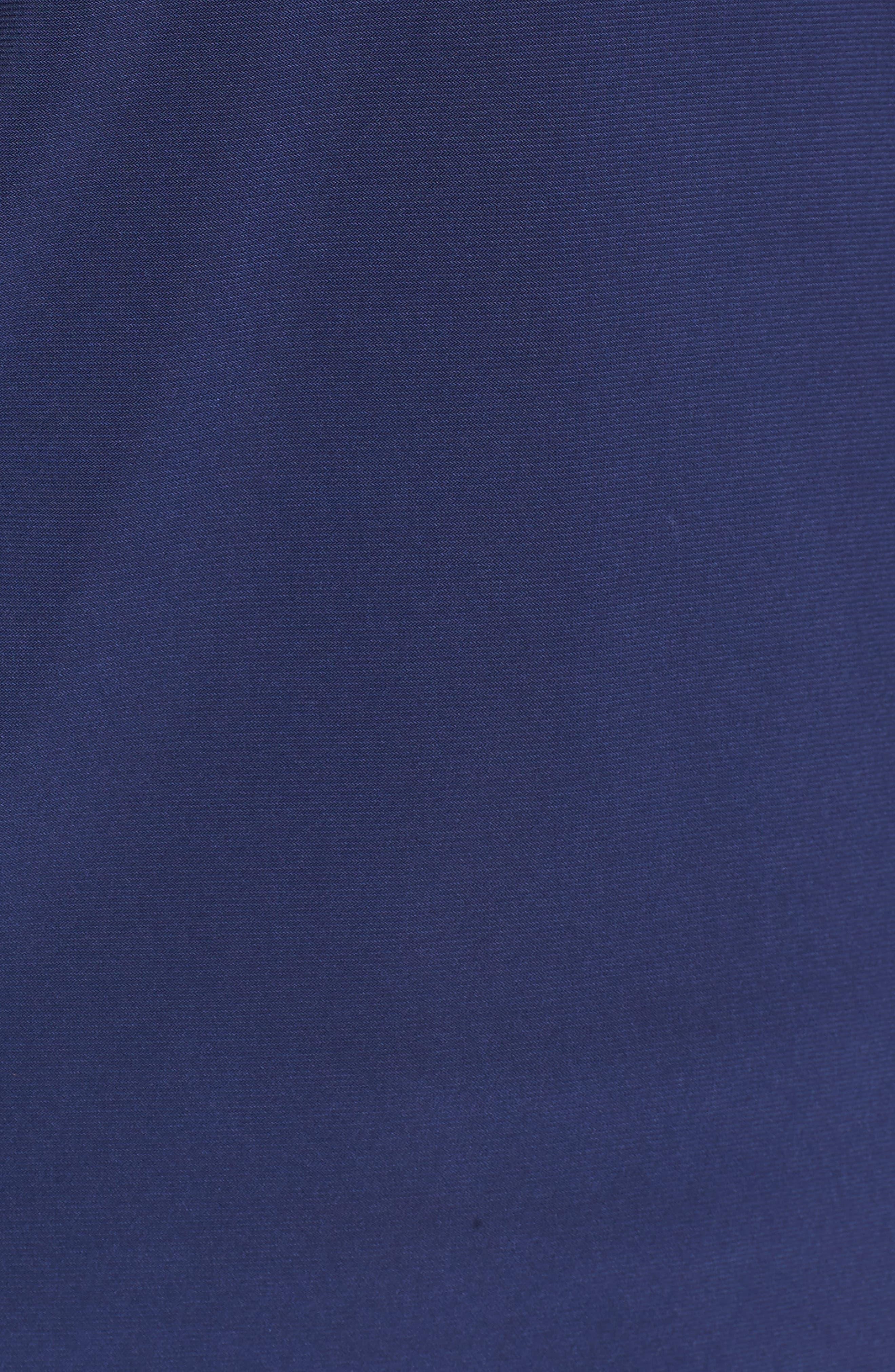 Pleat V-Neck Top,                             Alternate thumbnail 6, color,                             Breton Blue