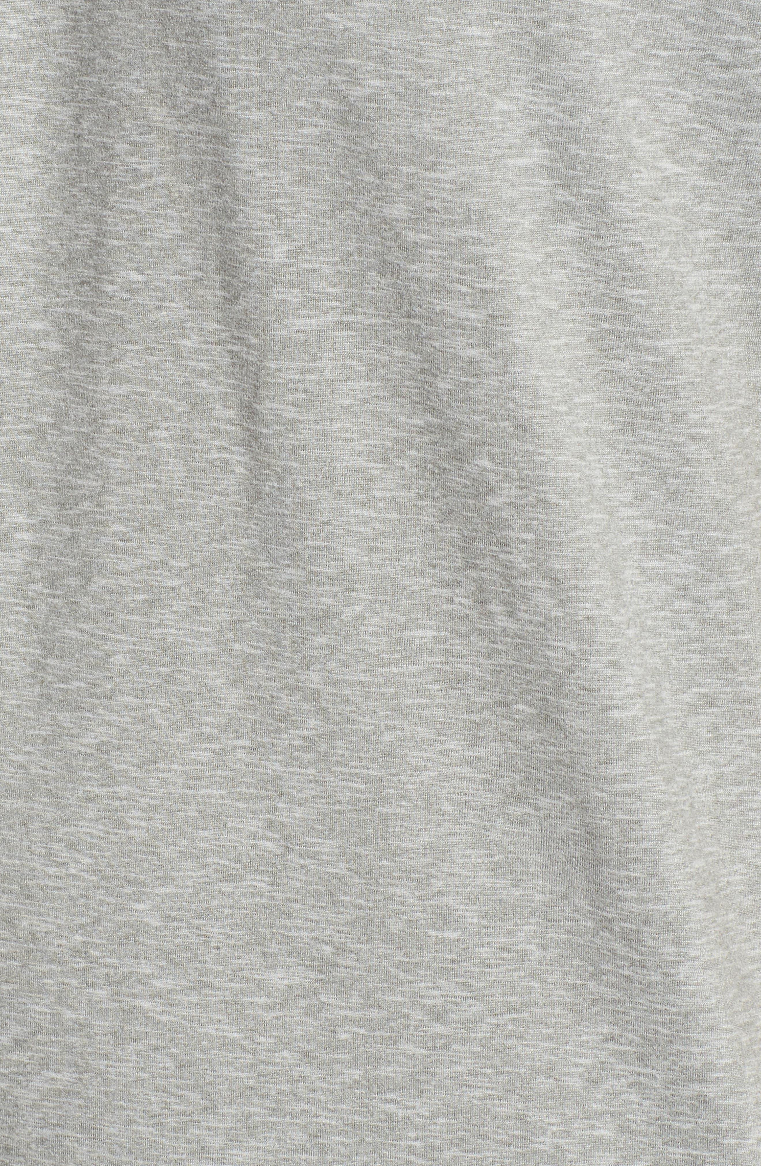 Therma Sleep Crewneck T-Shirt,                             Alternate thumbnail 5, color,                             Andover Heather/ Nevis