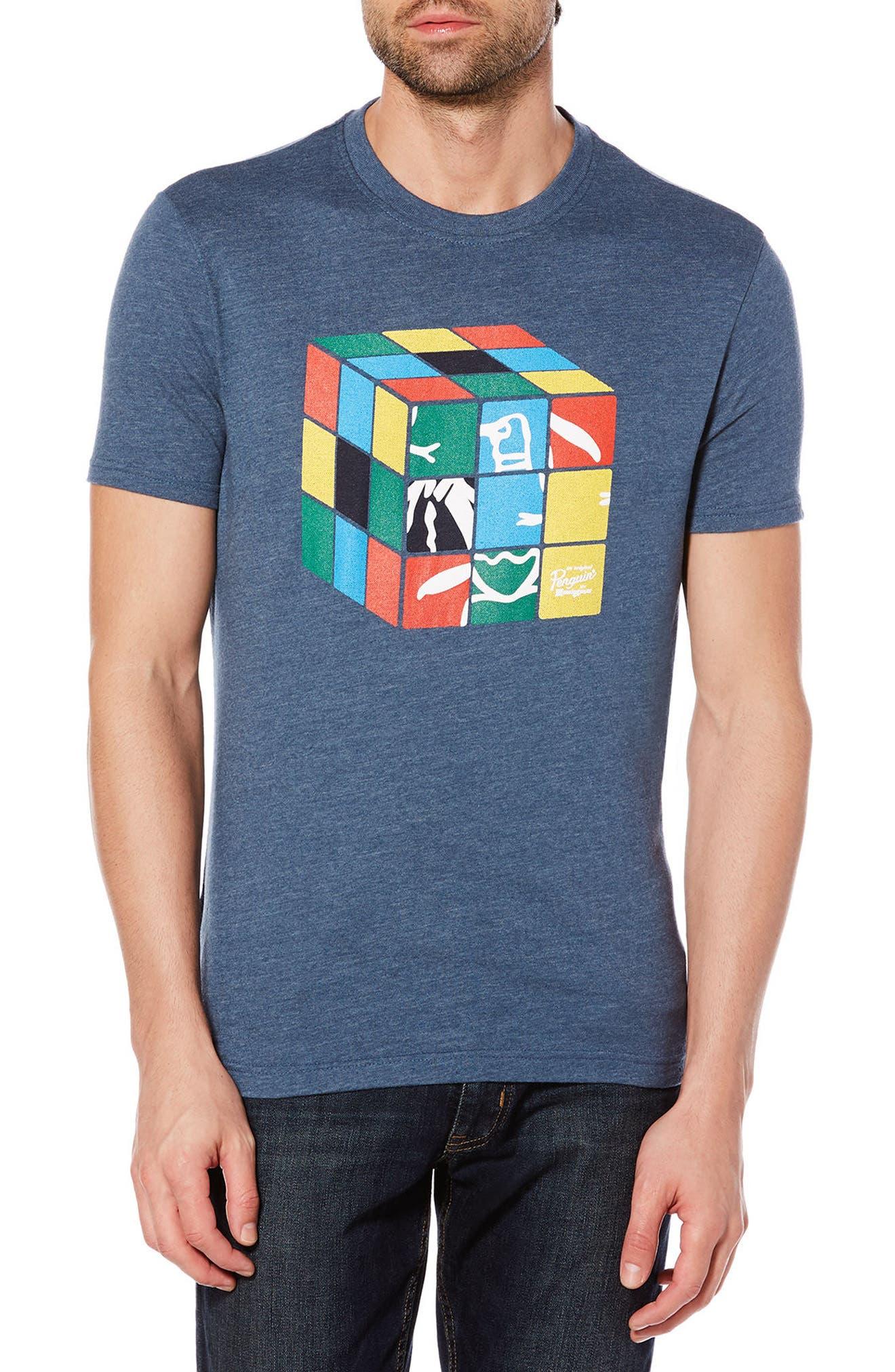 Moving Shapes Pete T-Shirt,                         Main,                         color, Vintage Indigo