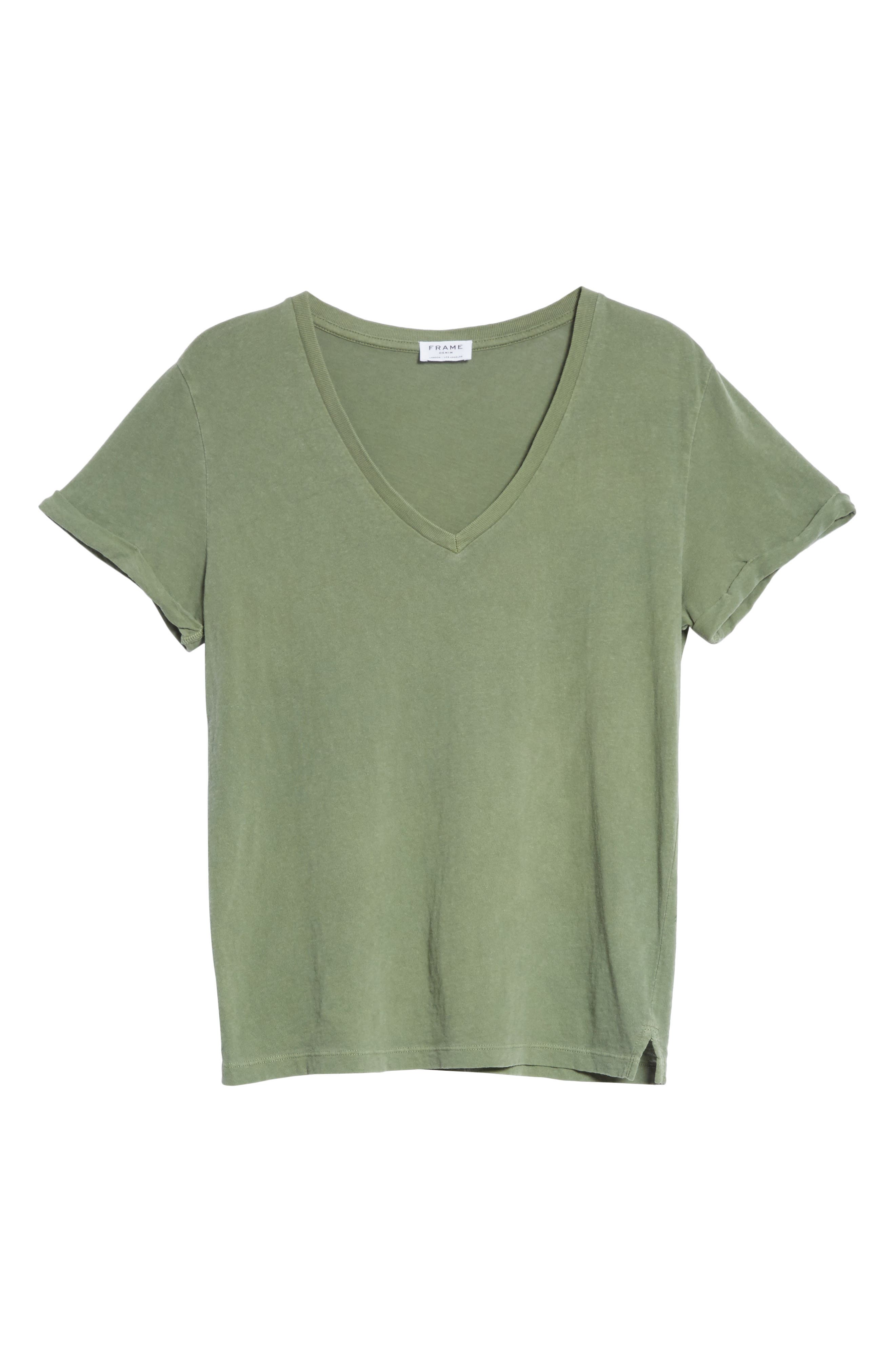 V-Neck Tee,                             Alternate thumbnail 7, color,                             Faded Army