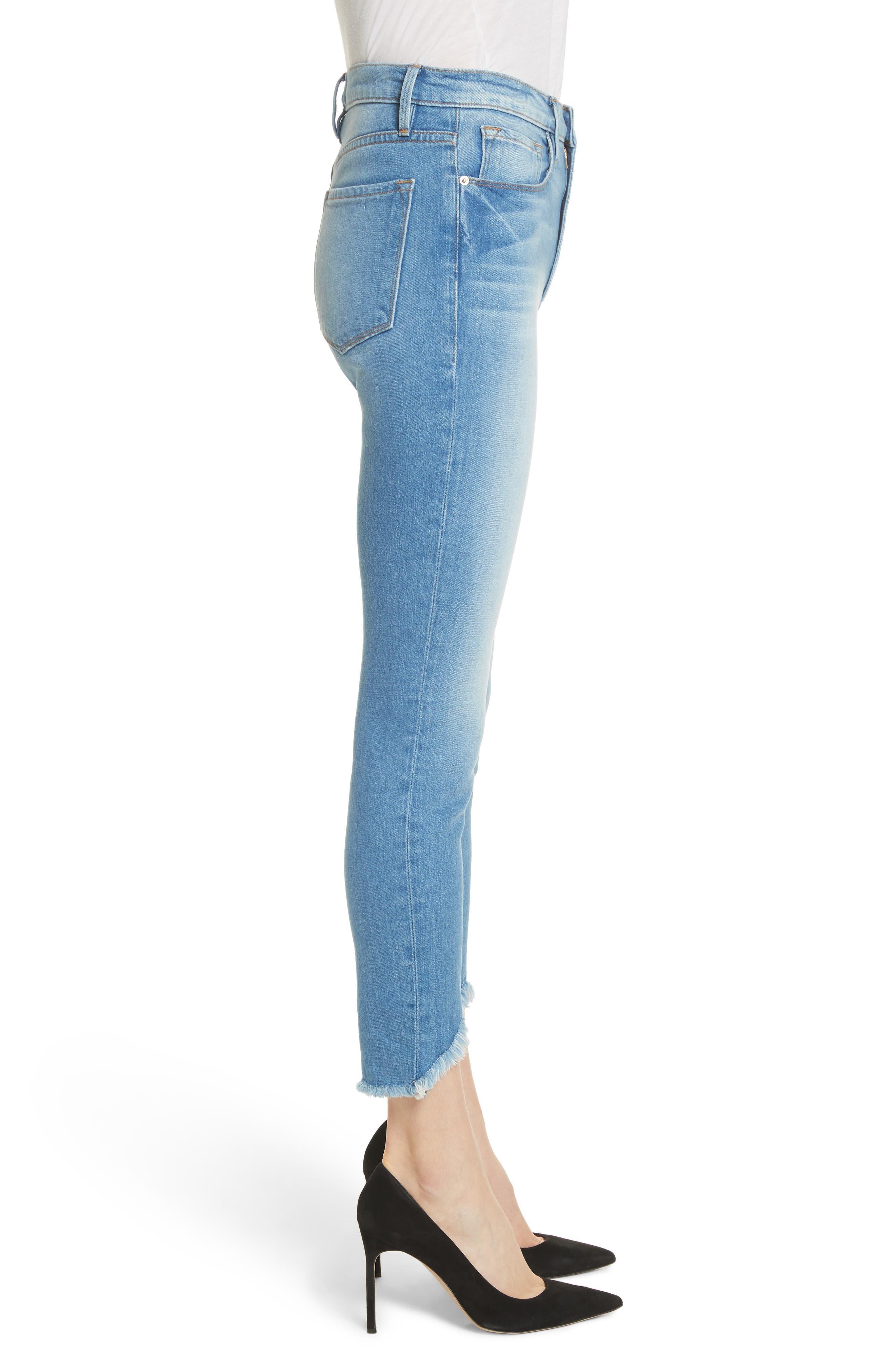 Ali High Waist Ankle Skinny Jeans,                             Alternate thumbnail 3, color,                             Opus