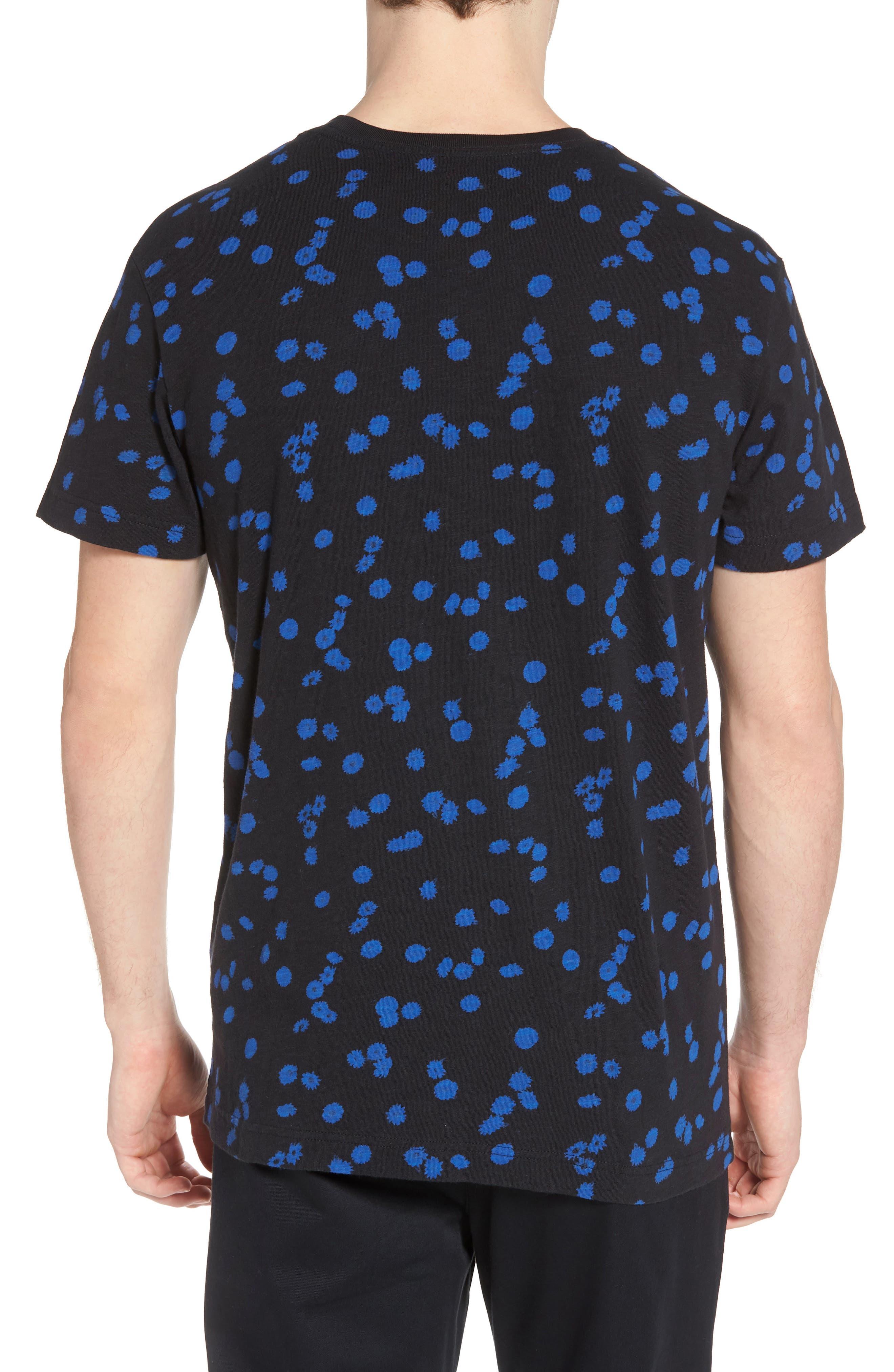 OD Floral T-Shirt,                             Alternate thumbnail 2, color,                             Black
