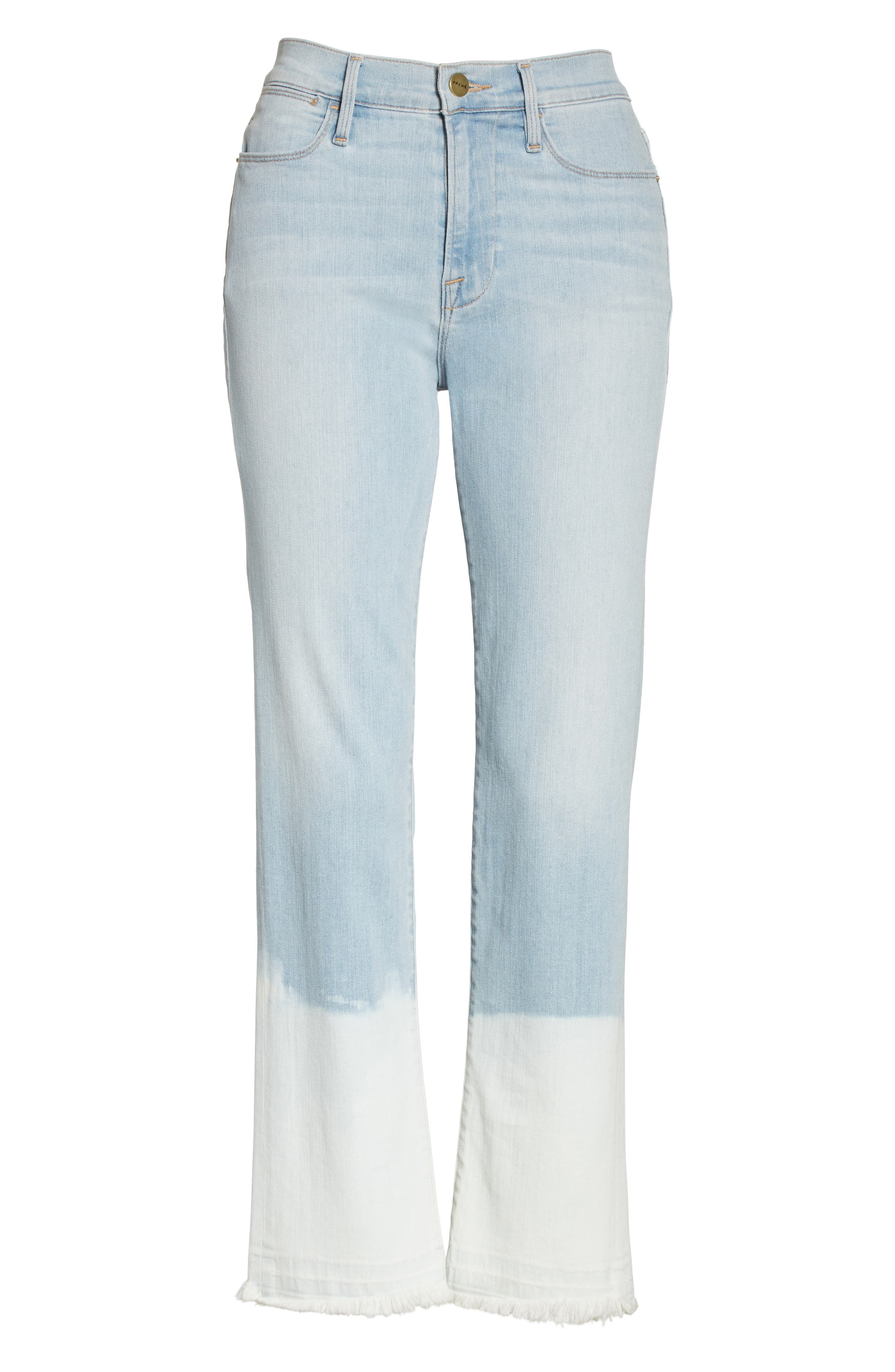 Le High Crop Straight Leg Jeans,                             Alternate thumbnail 8, color,                             Finchley