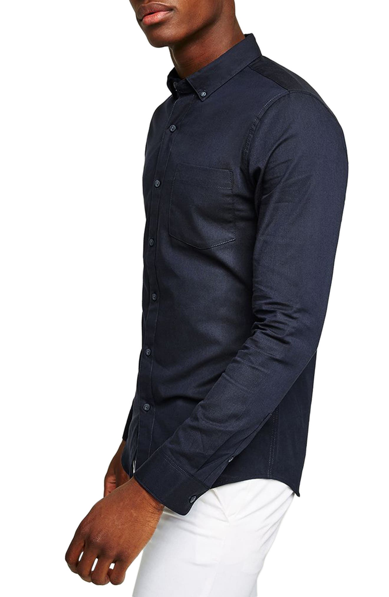 Oxford Shirt,                             Alternate thumbnail 2, color,                             Navy Blue
