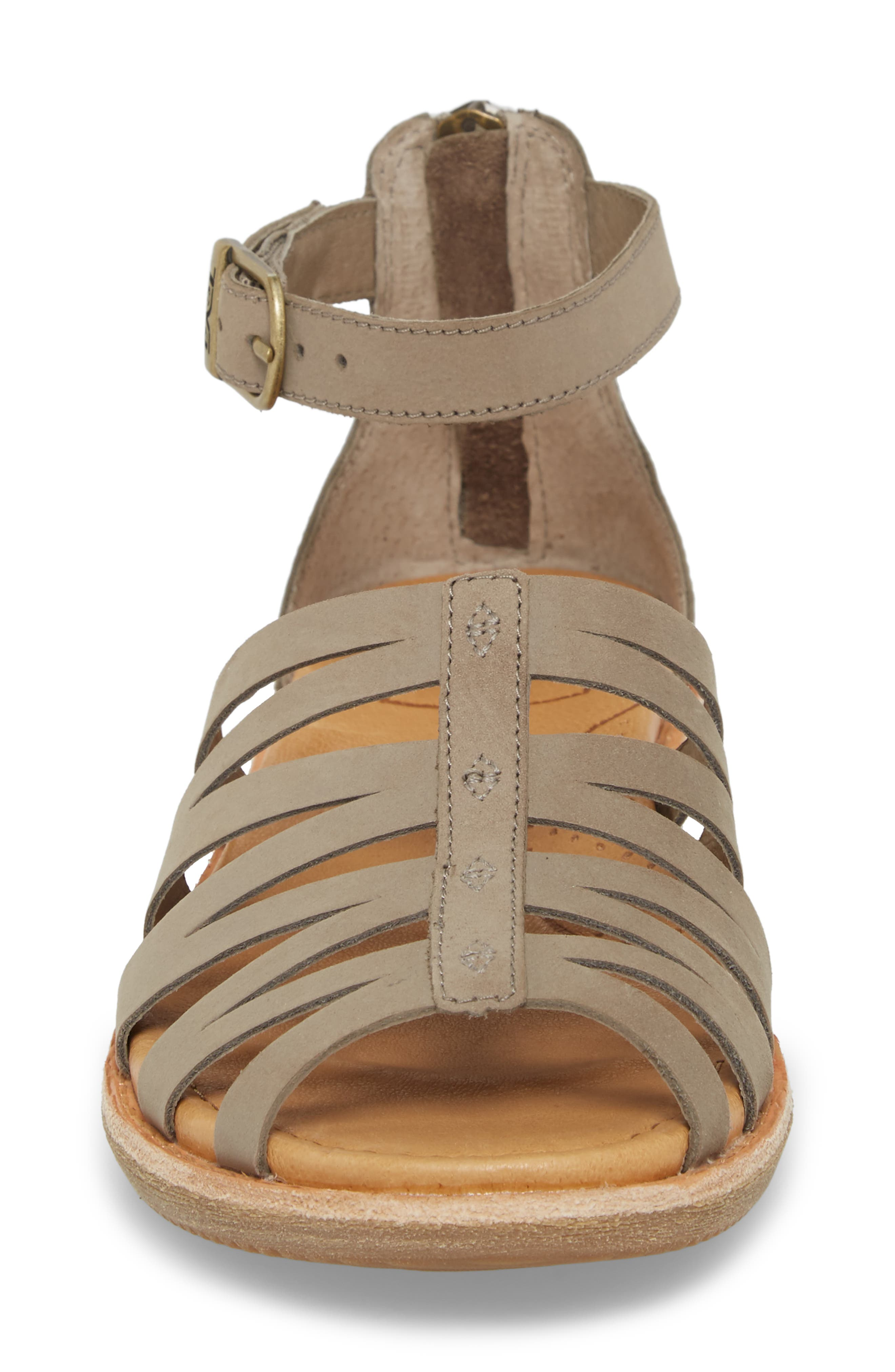 Encanta Sandal,                             Alternate thumbnail 4, color,                             Taupe Leather