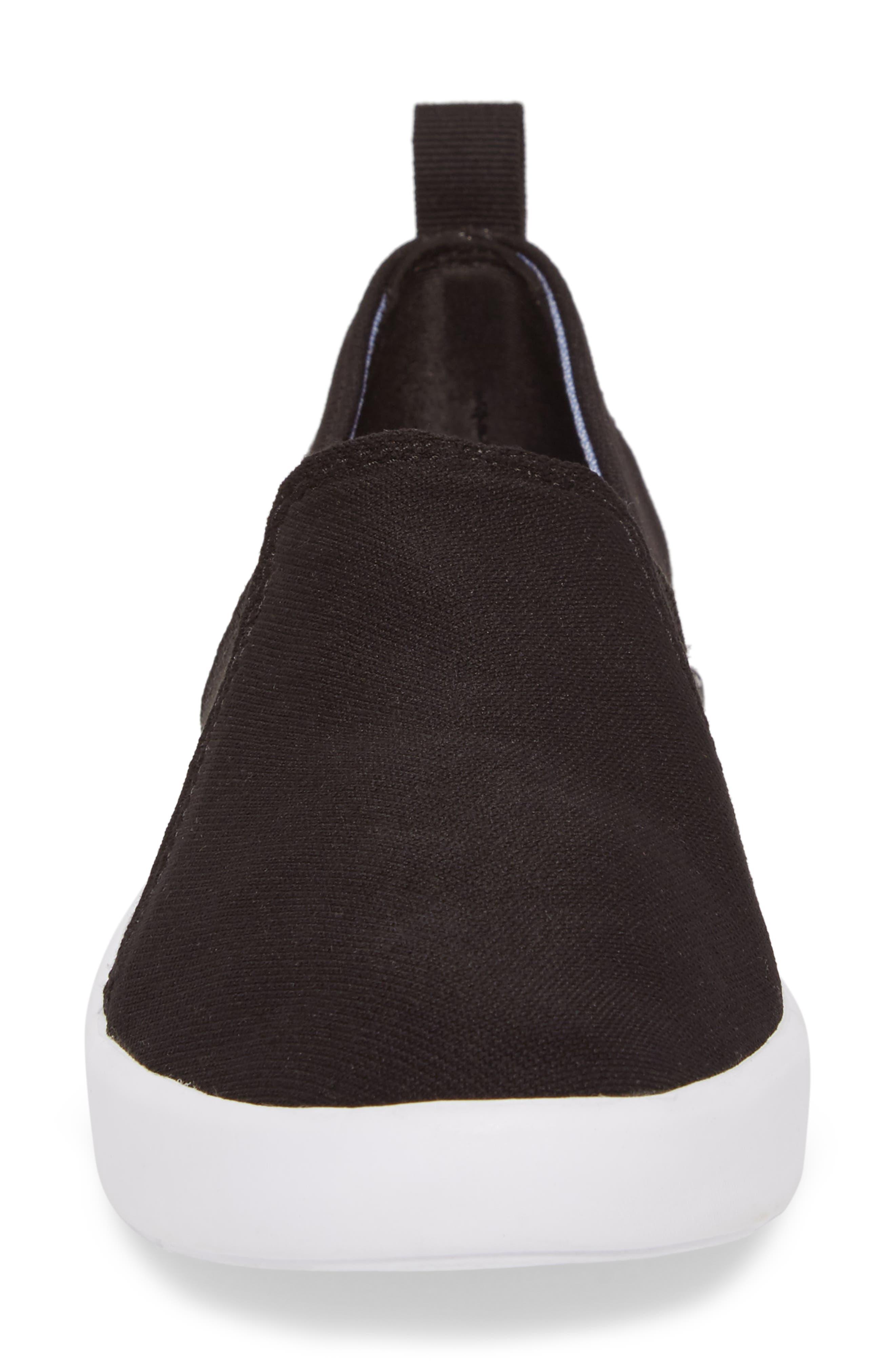 Studio Liv Jersey Slip-On Sneaker,                             Alternate thumbnail 4, color,                             Black