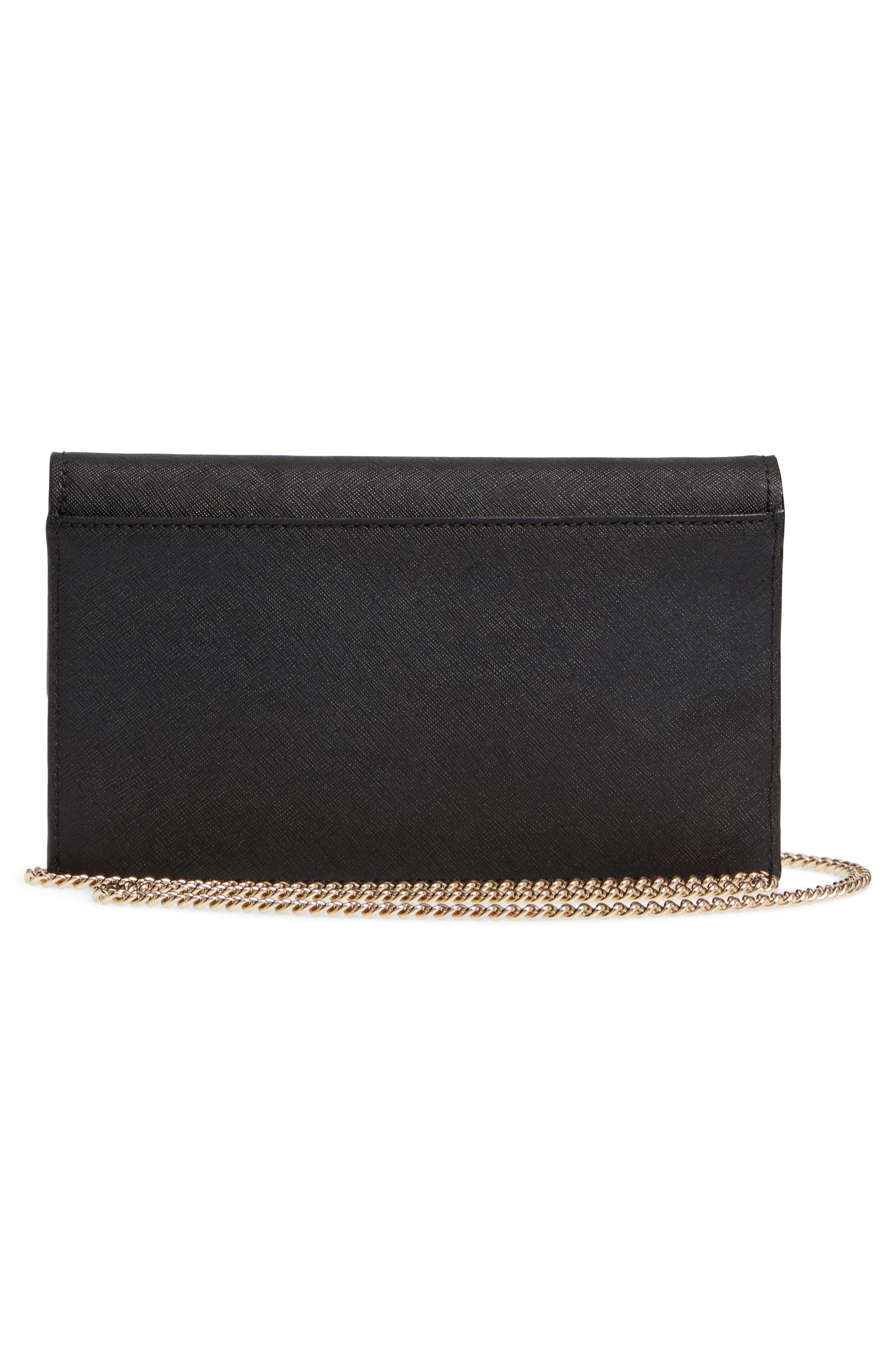 cameron street - brennan leather wallet & card case,                             Alternate thumbnail 3, color,                             Black