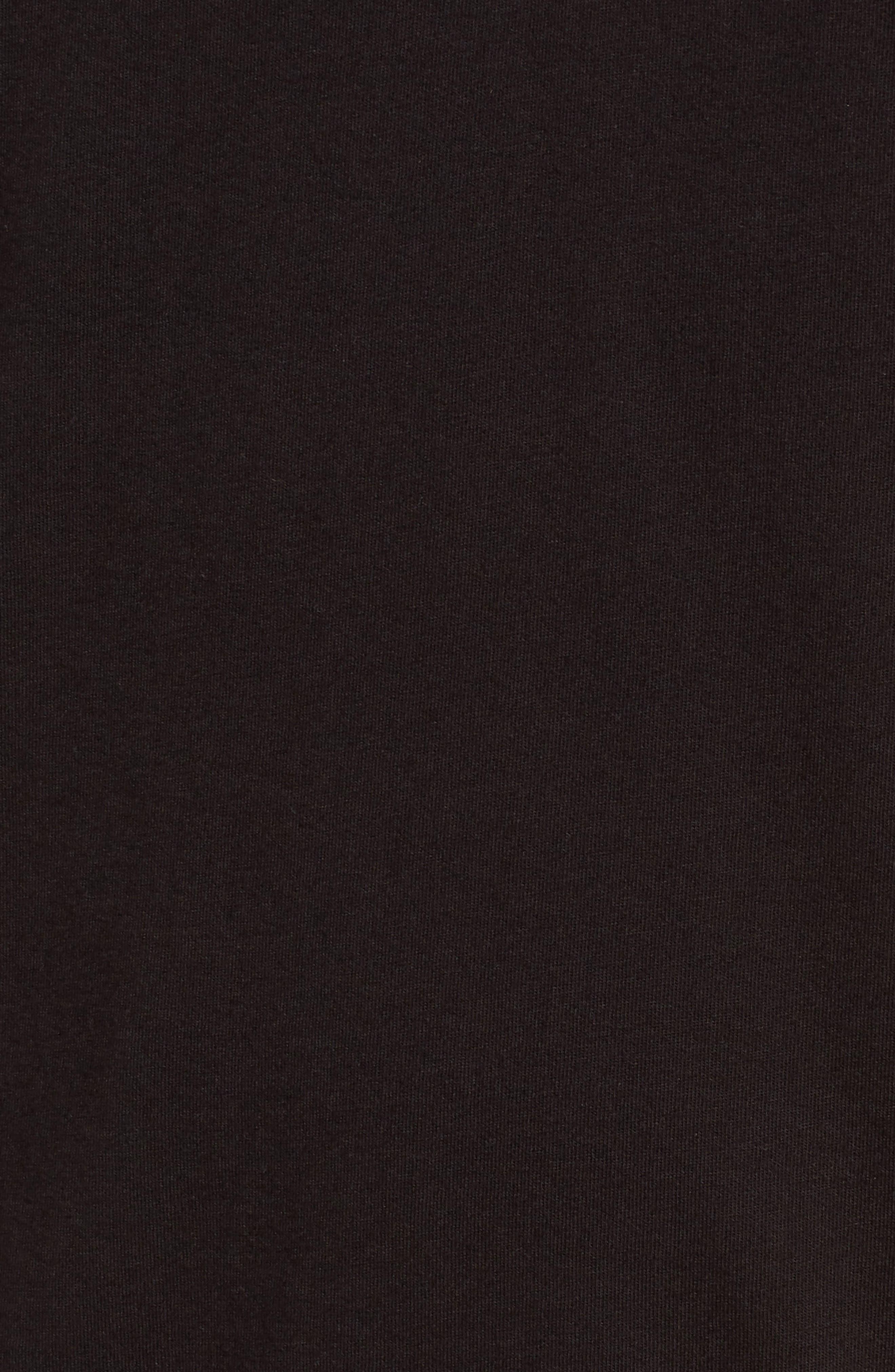 Short Sleeve Henley,                             Alternate thumbnail 5, color,                             Black