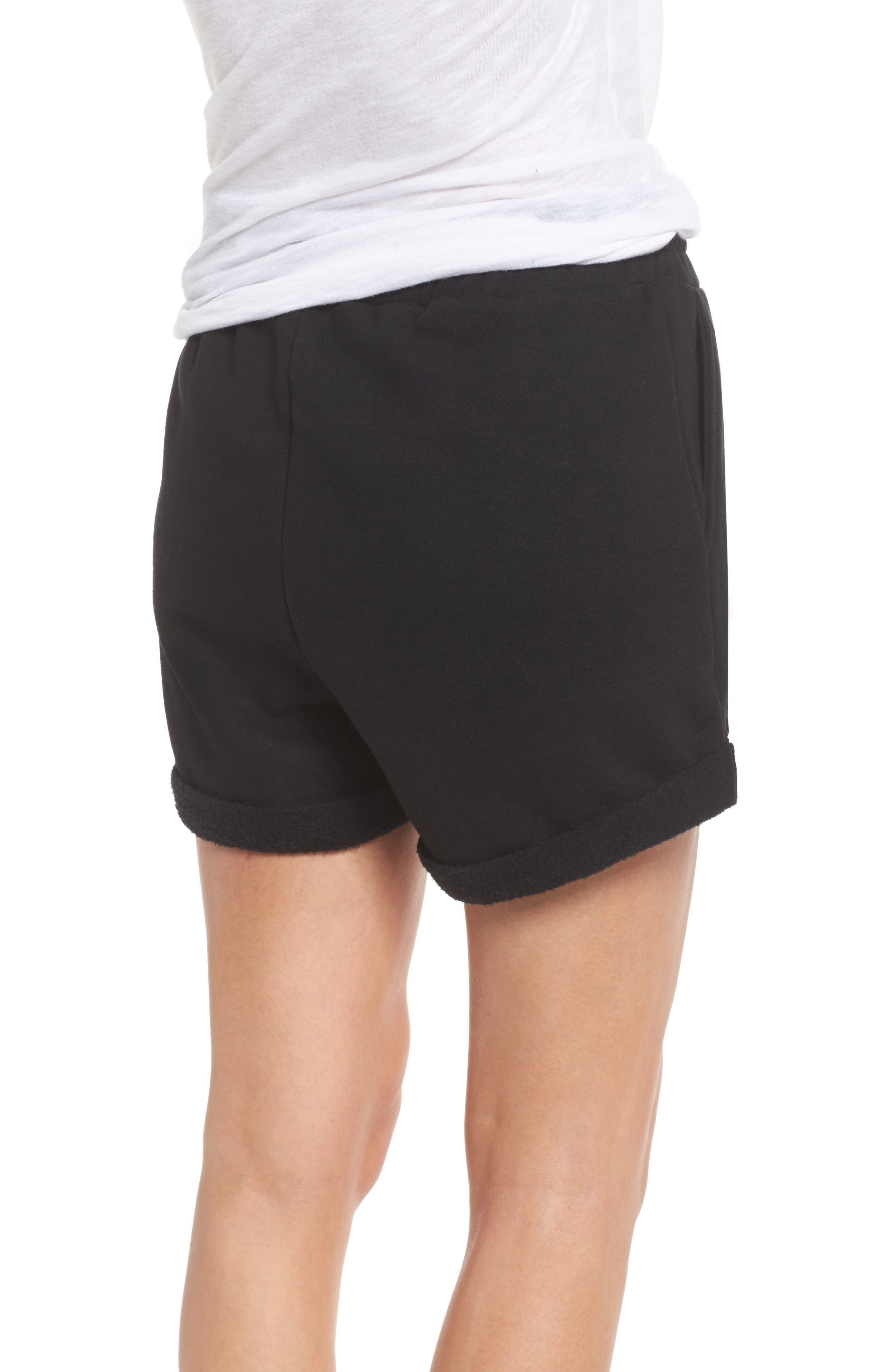 Brunette Shorts,                             Alternate thumbnail 2, color,                             Black