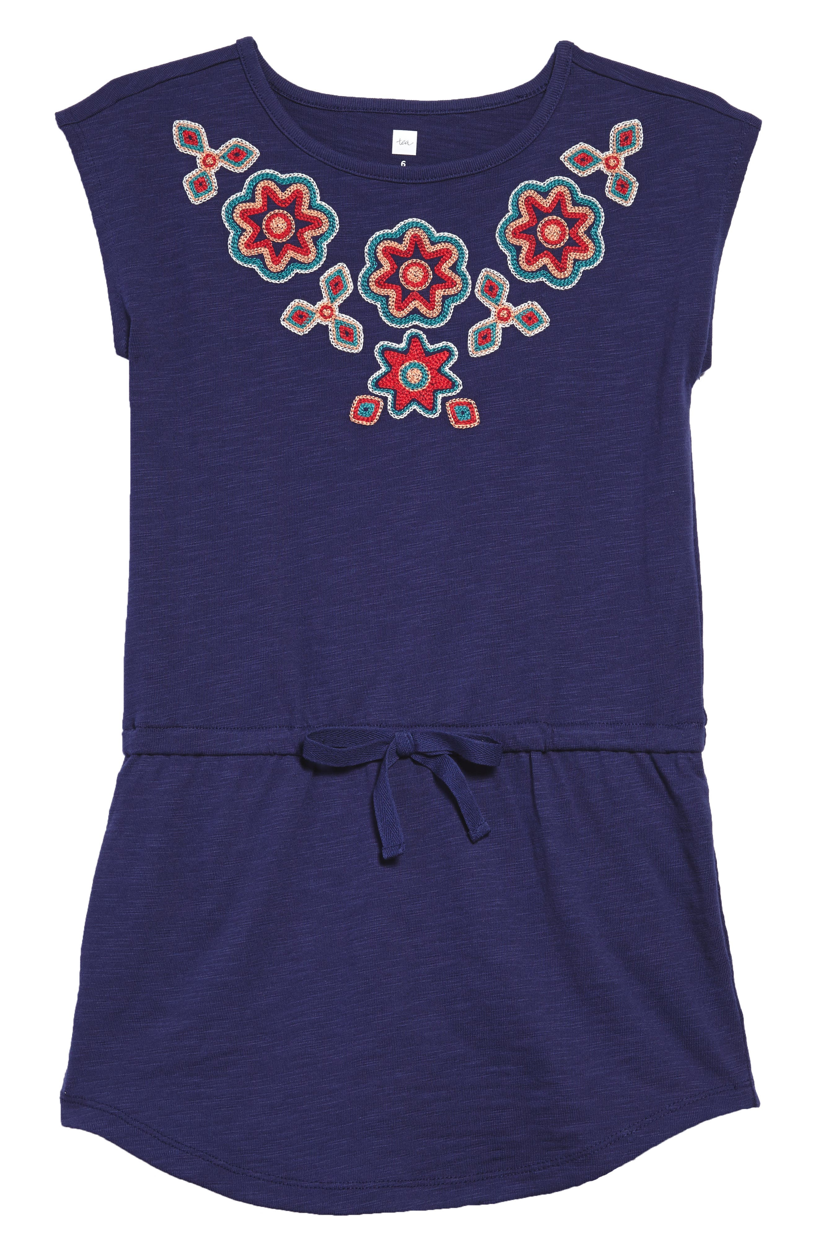 Berry Embroidered Dress,                         Main,                         color, Twilight