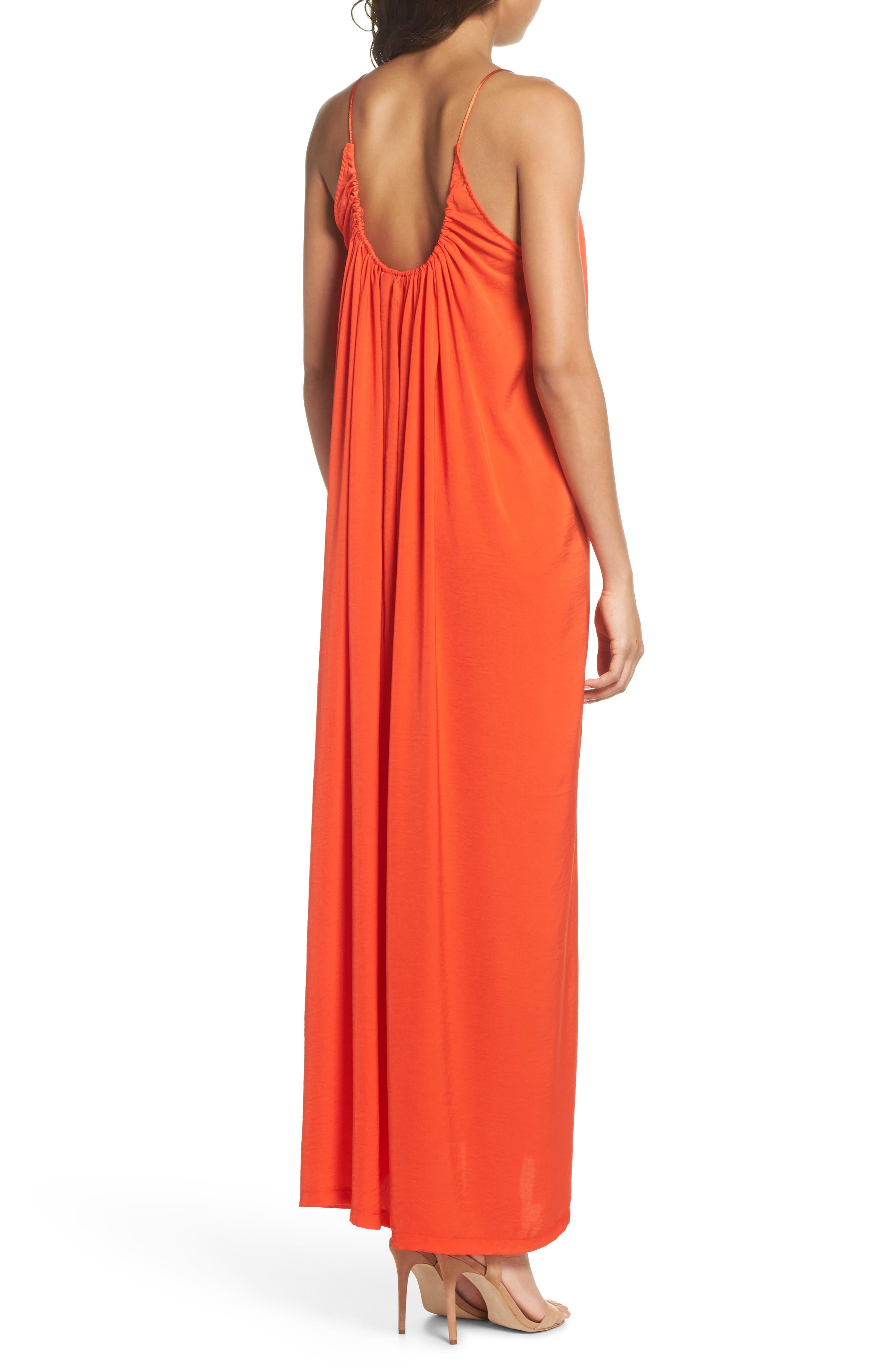 Yvonne Maxi Dress,                             Alternate thumbnail 2, color,                             Blood Orange