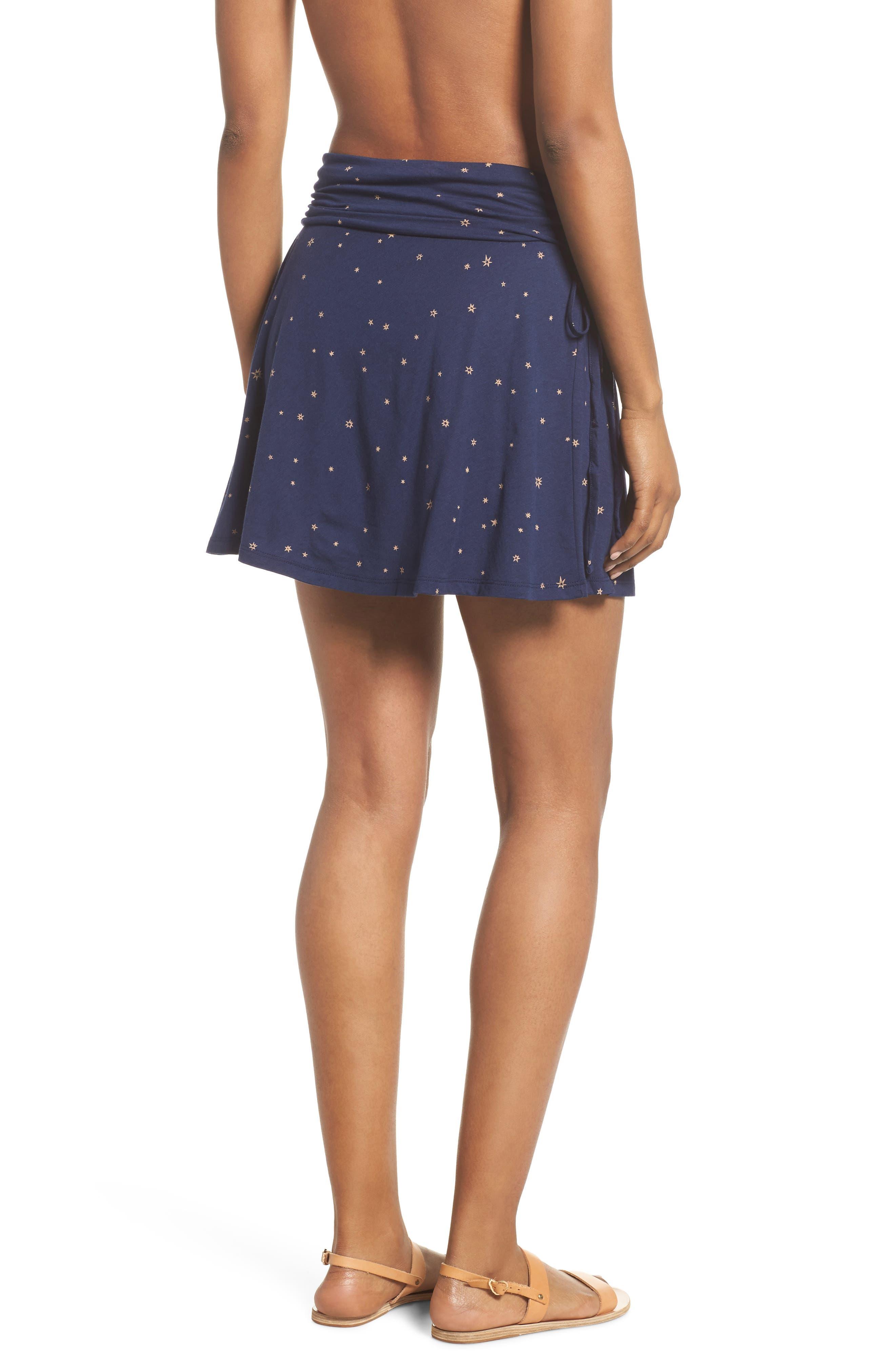 Lithia Cotton Blend Skirt,                             Alternate thumbnail 2, color,                             Micr Mica Pop Classic Navy
