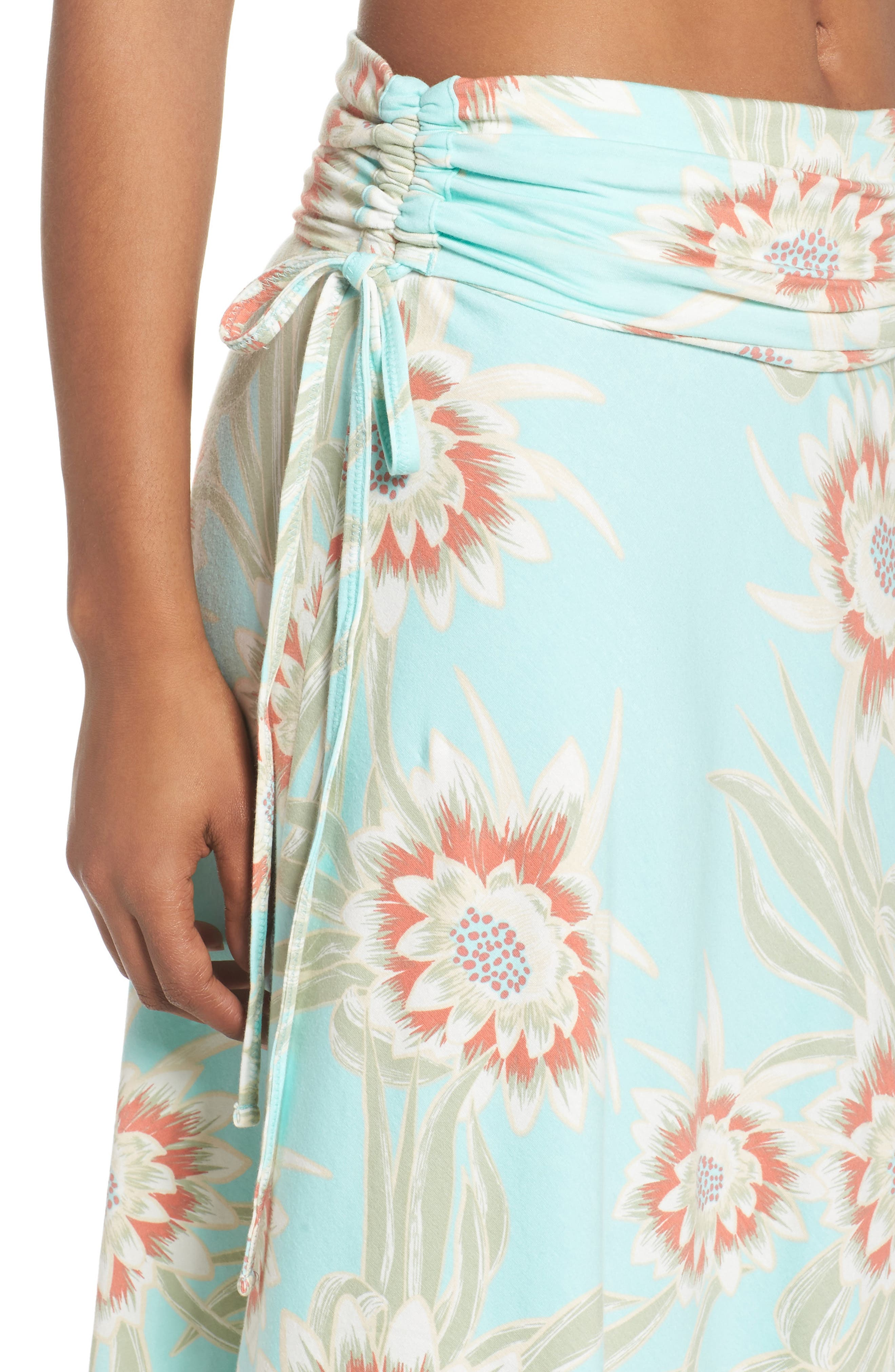 Kamala Maxi Skirt,                             Alternate thumbnail 6, color,                             Cereus Flower Bend