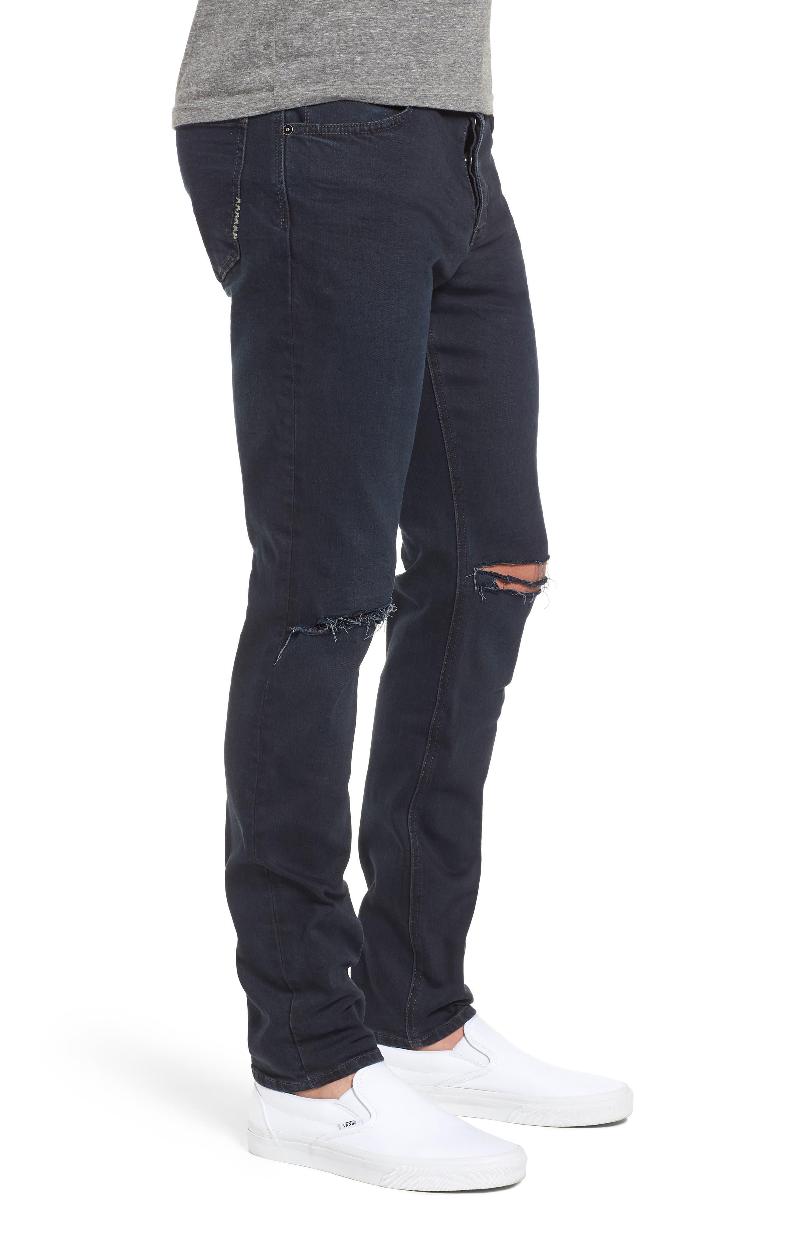 Iggy Skinny Fit Jeans,                             Alternate thumbnail 3, color,                             Blue Lines Broken