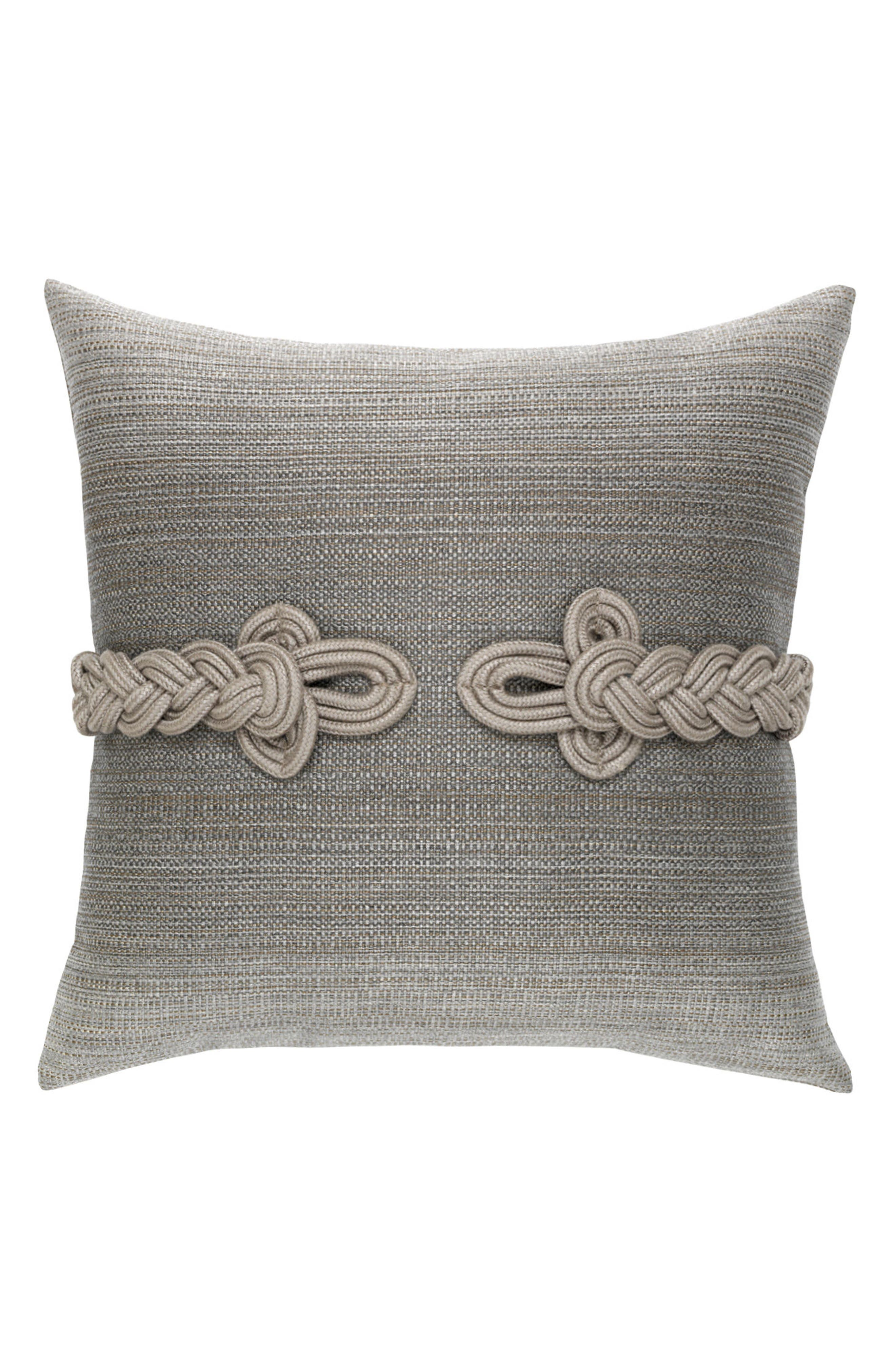 Cadet Frogs Clasp Indoor/Outdoor Accent Pillow,                         Main,                         color, Grey