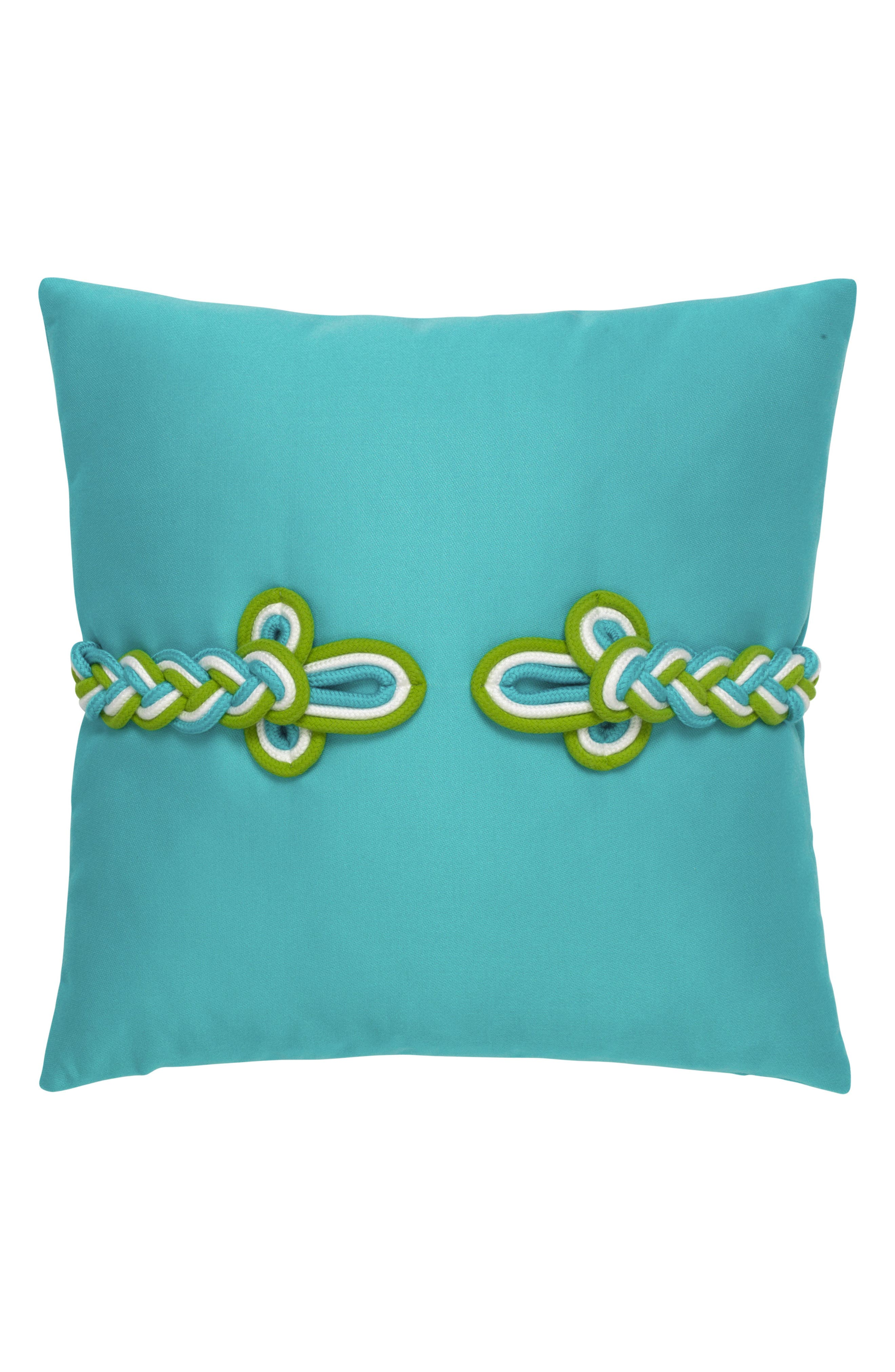 Aruba Frogs Clasp Indoor/Outdoor Accent Pillow,                         Main,                         color, Blue