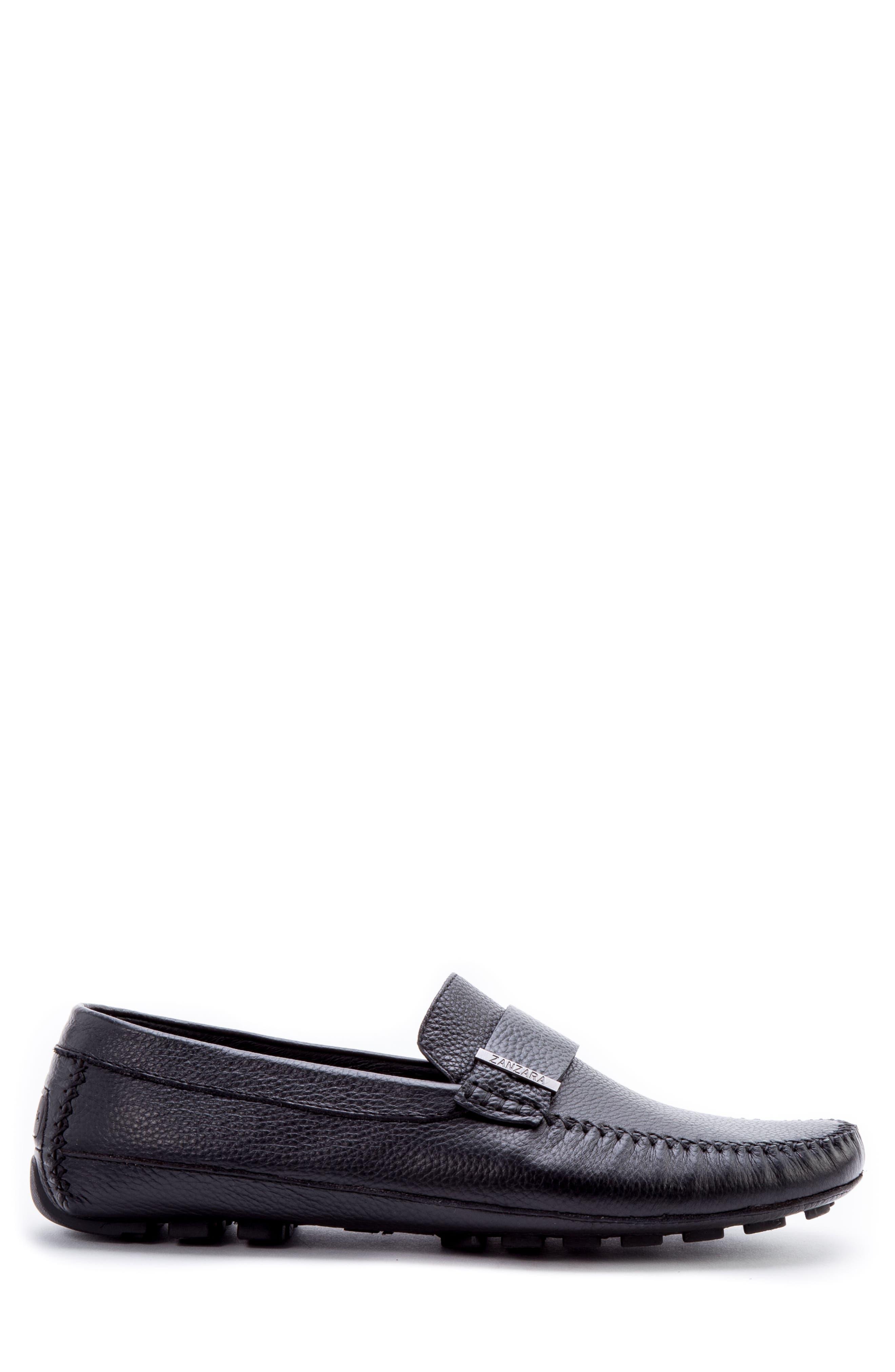 Kandinsky Moc Toe Driving Loafer,                             Alternate thumbnail 3, color,                             Black Leather