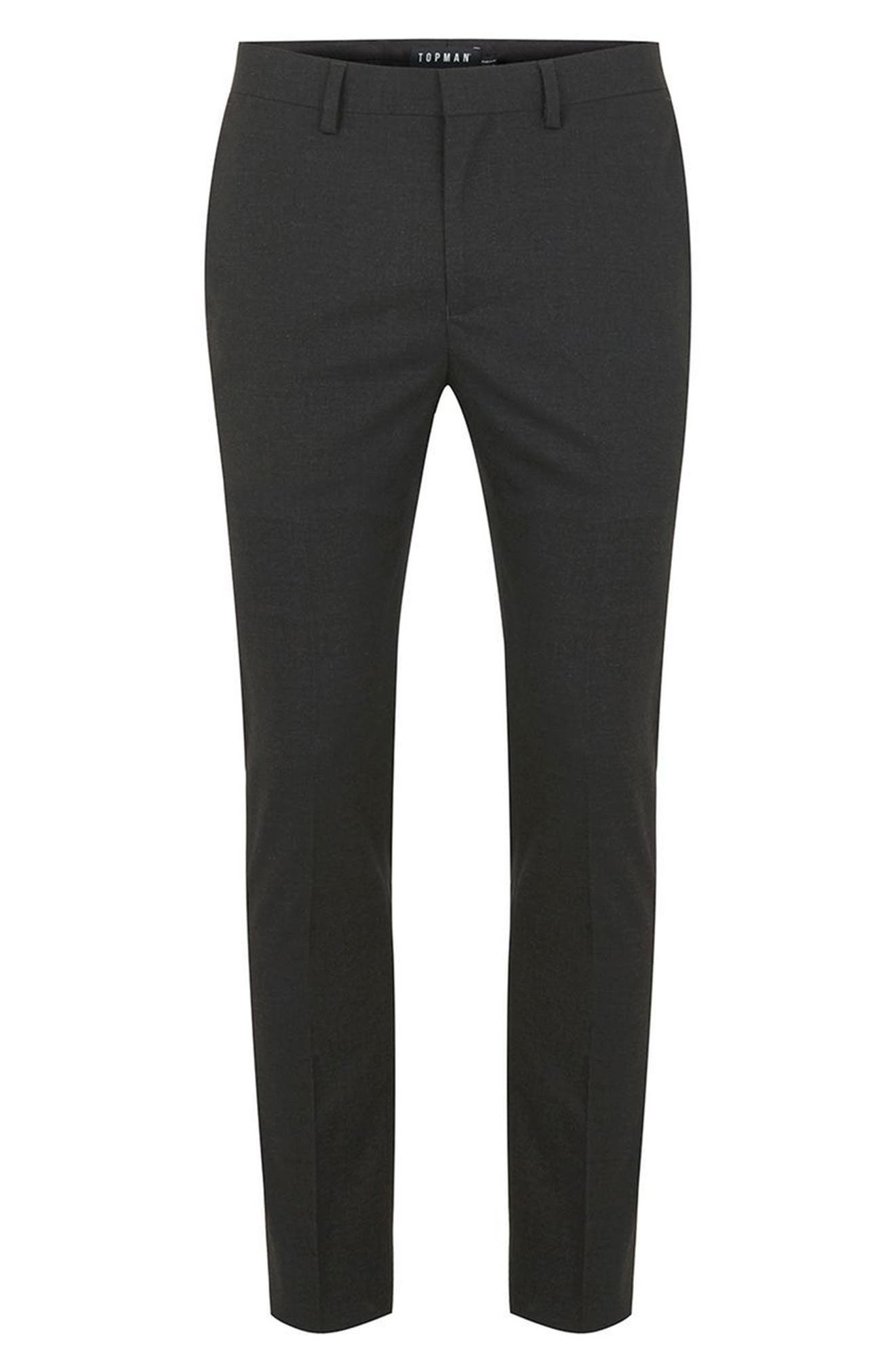 Ultra Skinny Fit Trousers,                             Alternate thumbnail 4, color,                             Charcoal