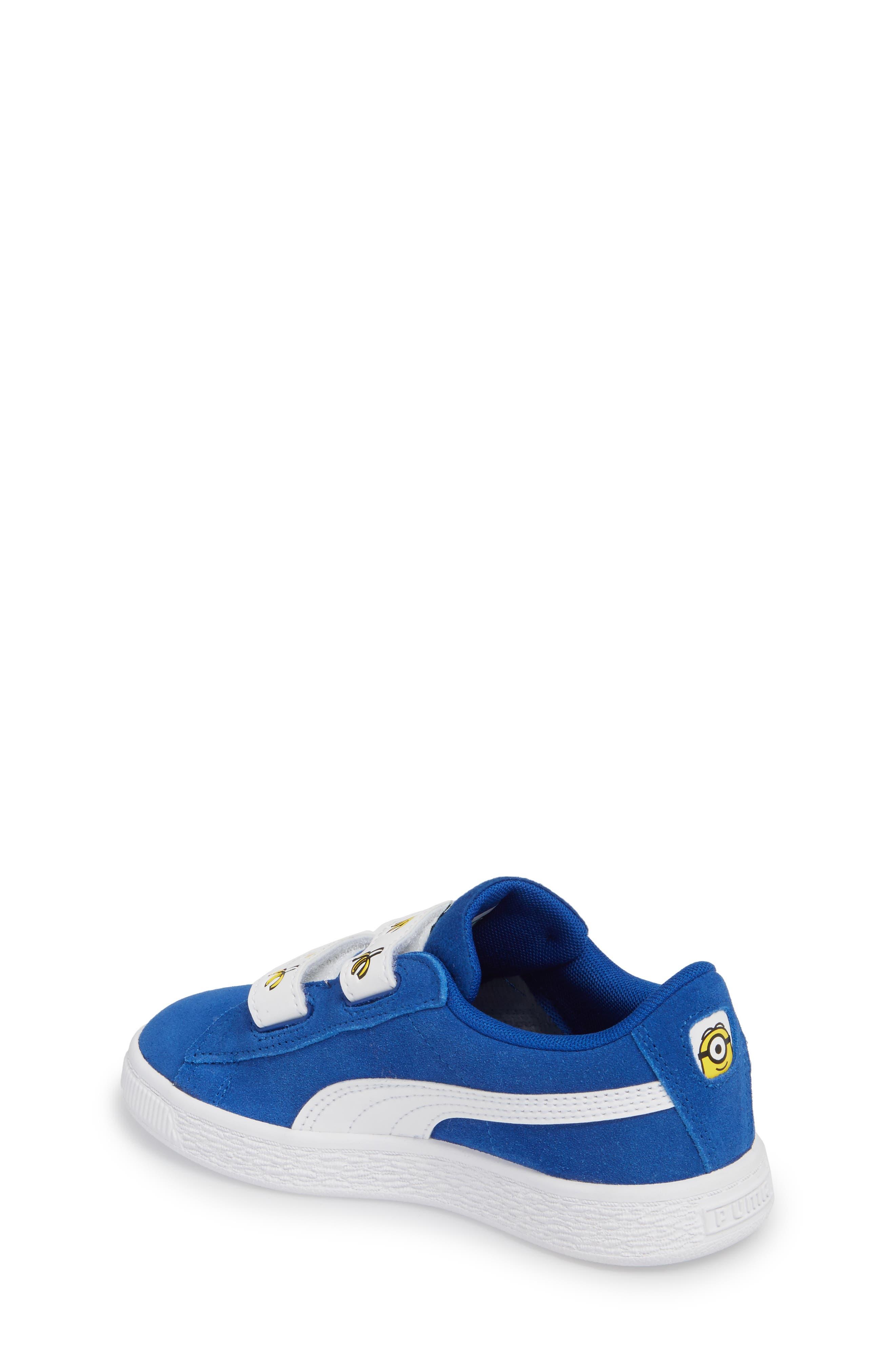 x Minions Suede V Sneaker,                             Alternate thumbnail 2, color,                             Olympian Blue/ Puma White