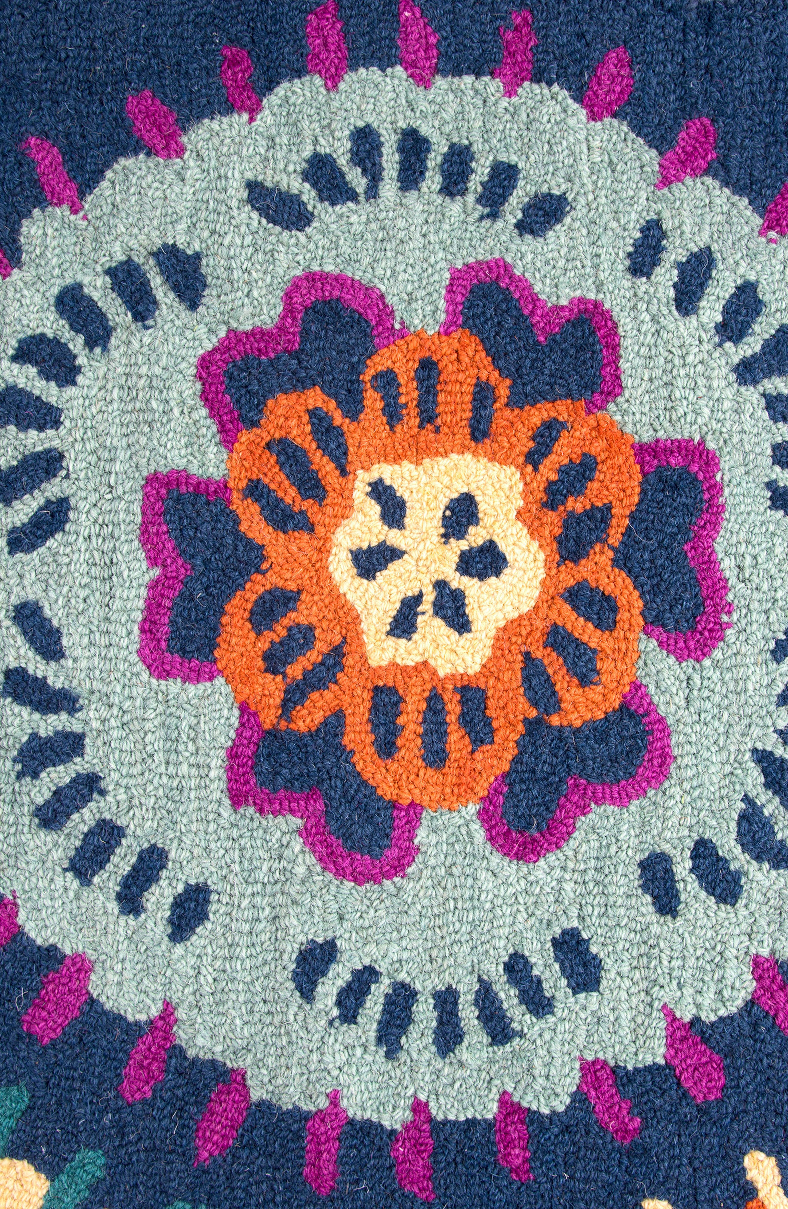 Play Day Flowery Rug,                             Alternate thumbnail 2, color,                             Navy