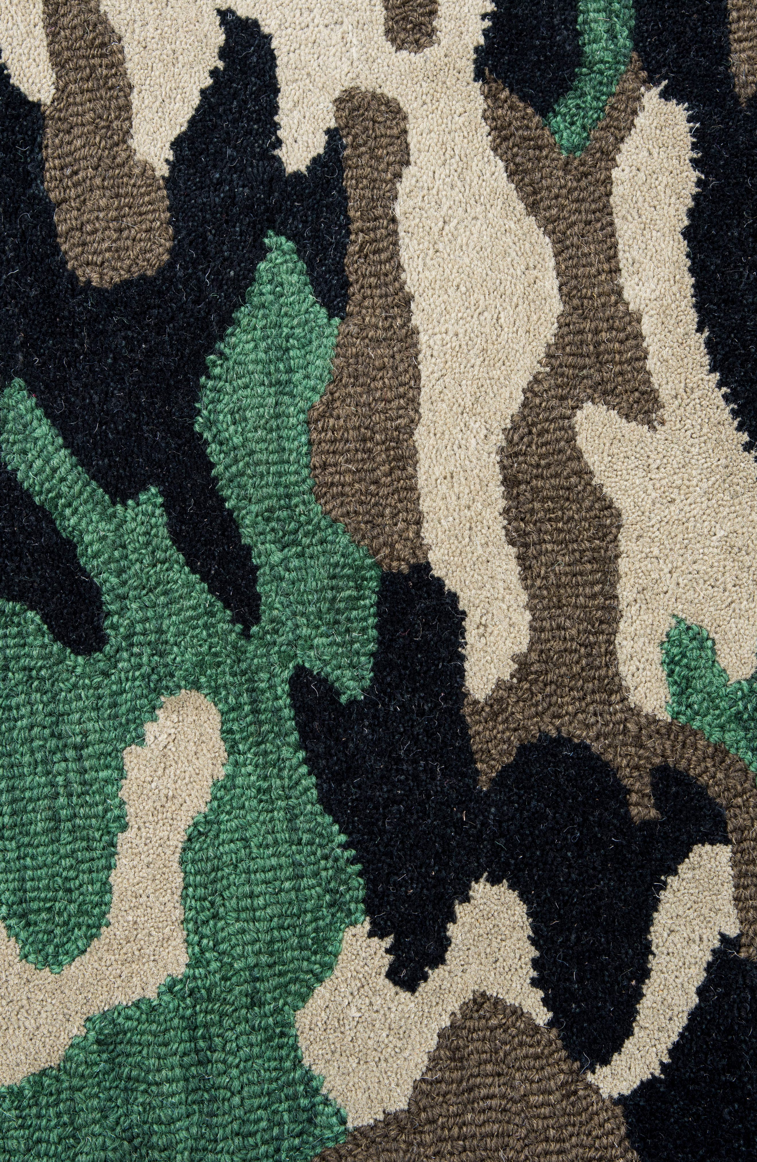 Play Day Camouflage Rug,                             Alternate thumbnail 2, color,                             Green