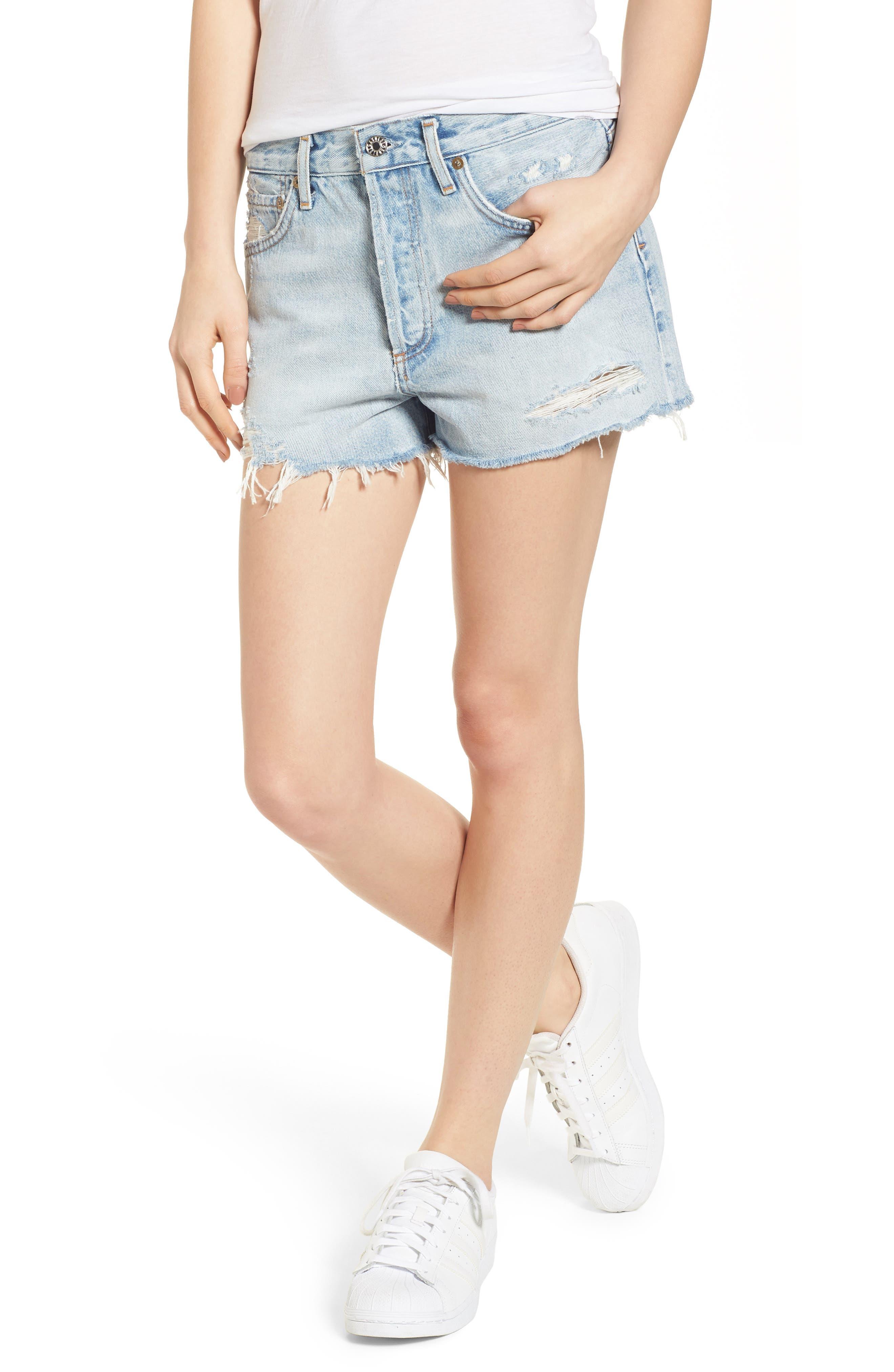 Parker Distressed Denim Shorts,                         Main,                         color, Broken