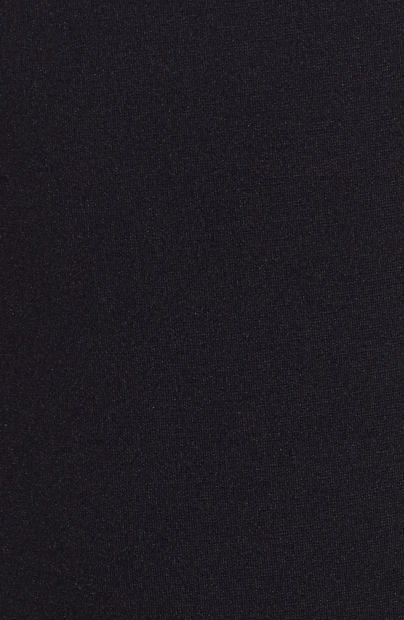 Petal Scalloped A-Line Dress,                             Alternate thumbnail 5, color,                             Midnight