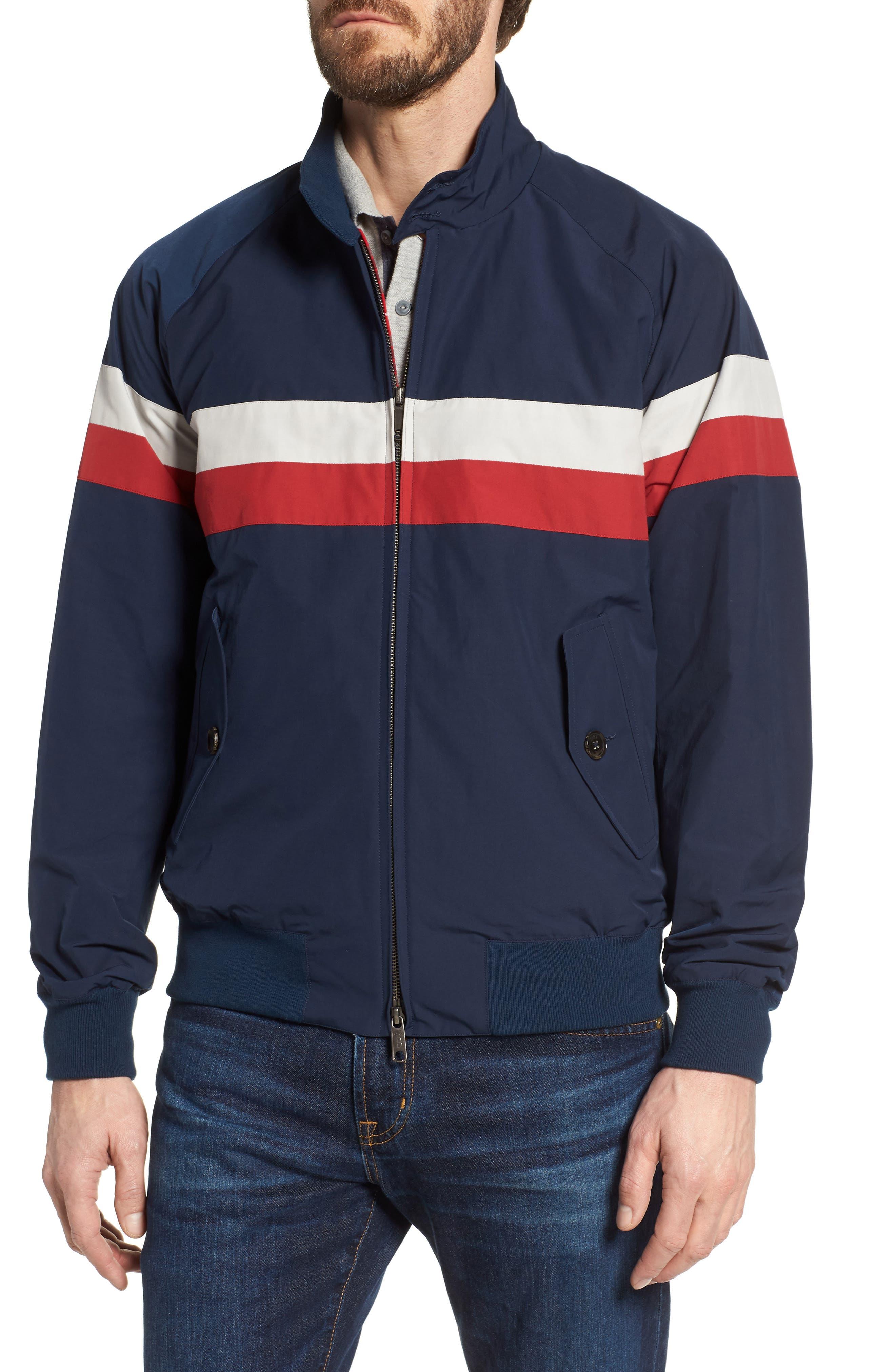 G9 Varsity Jacket,                             Alternate thumbnail 4, color,                             Navy