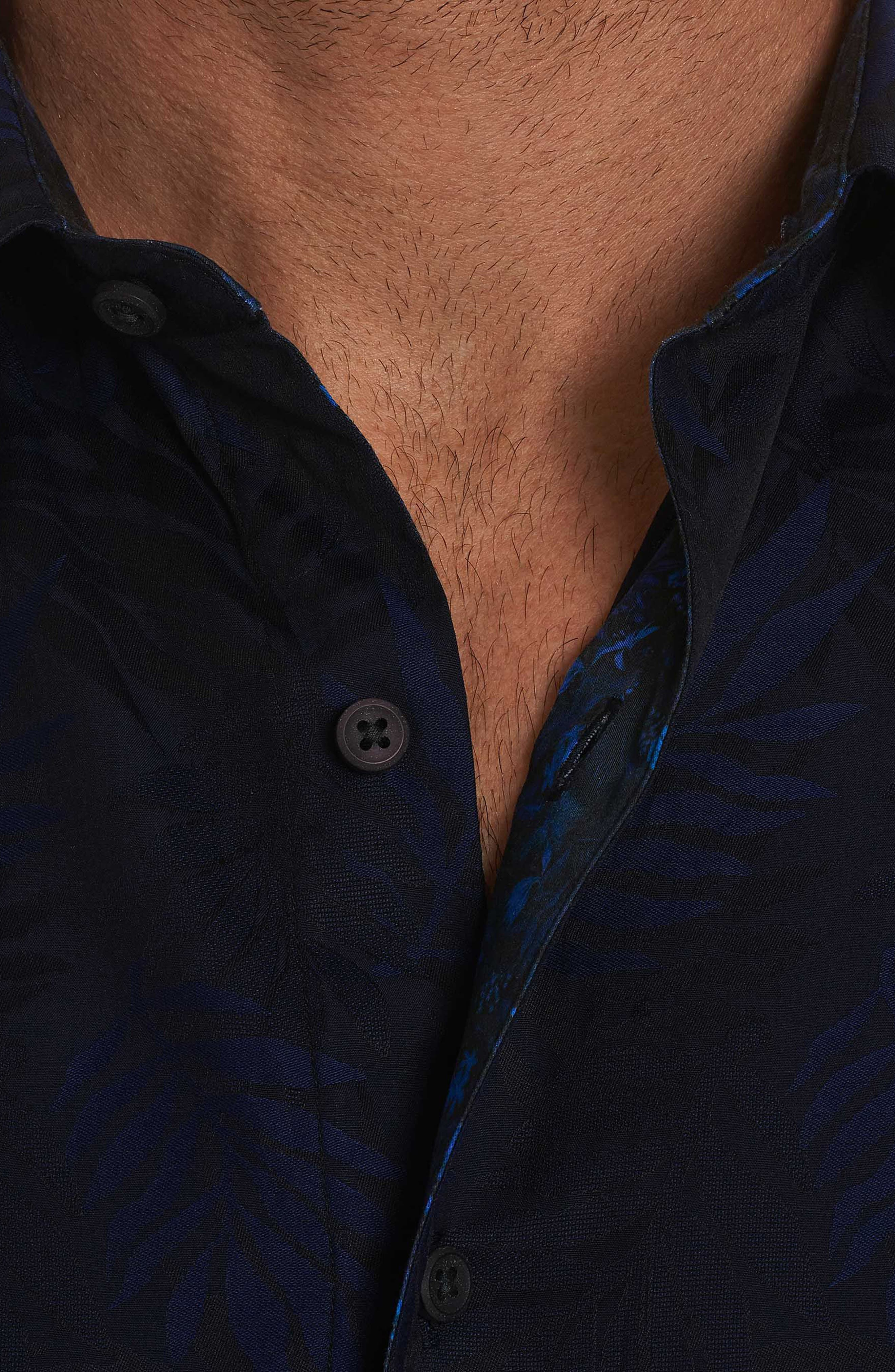Monte Classic Fit Sport Shirt,                             Alternate thumbnail 3, color,                             Midnight Navy