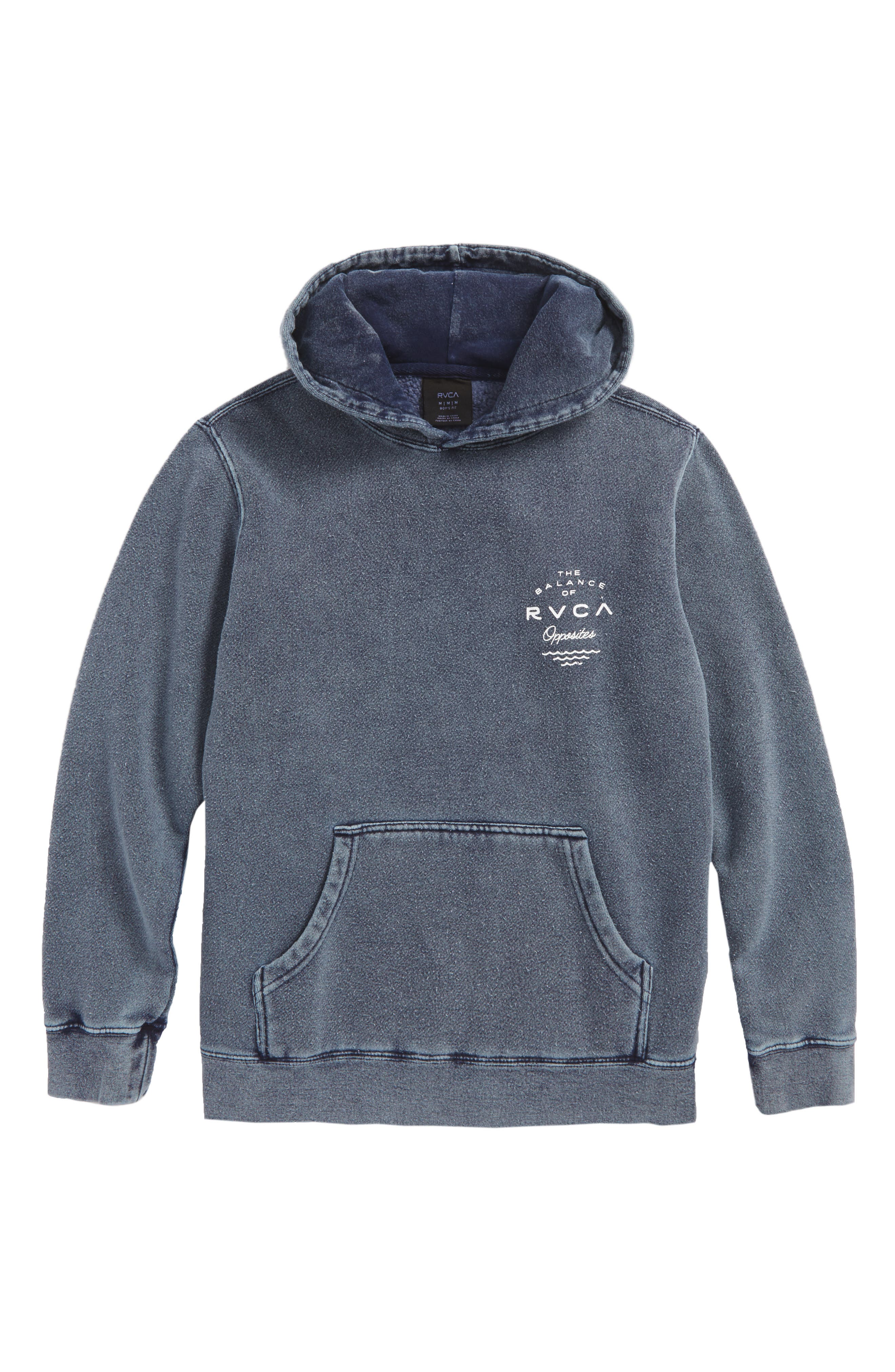Alternate Image 1 Selected - RVCA Stress Hooded Pullover (Big Boys)