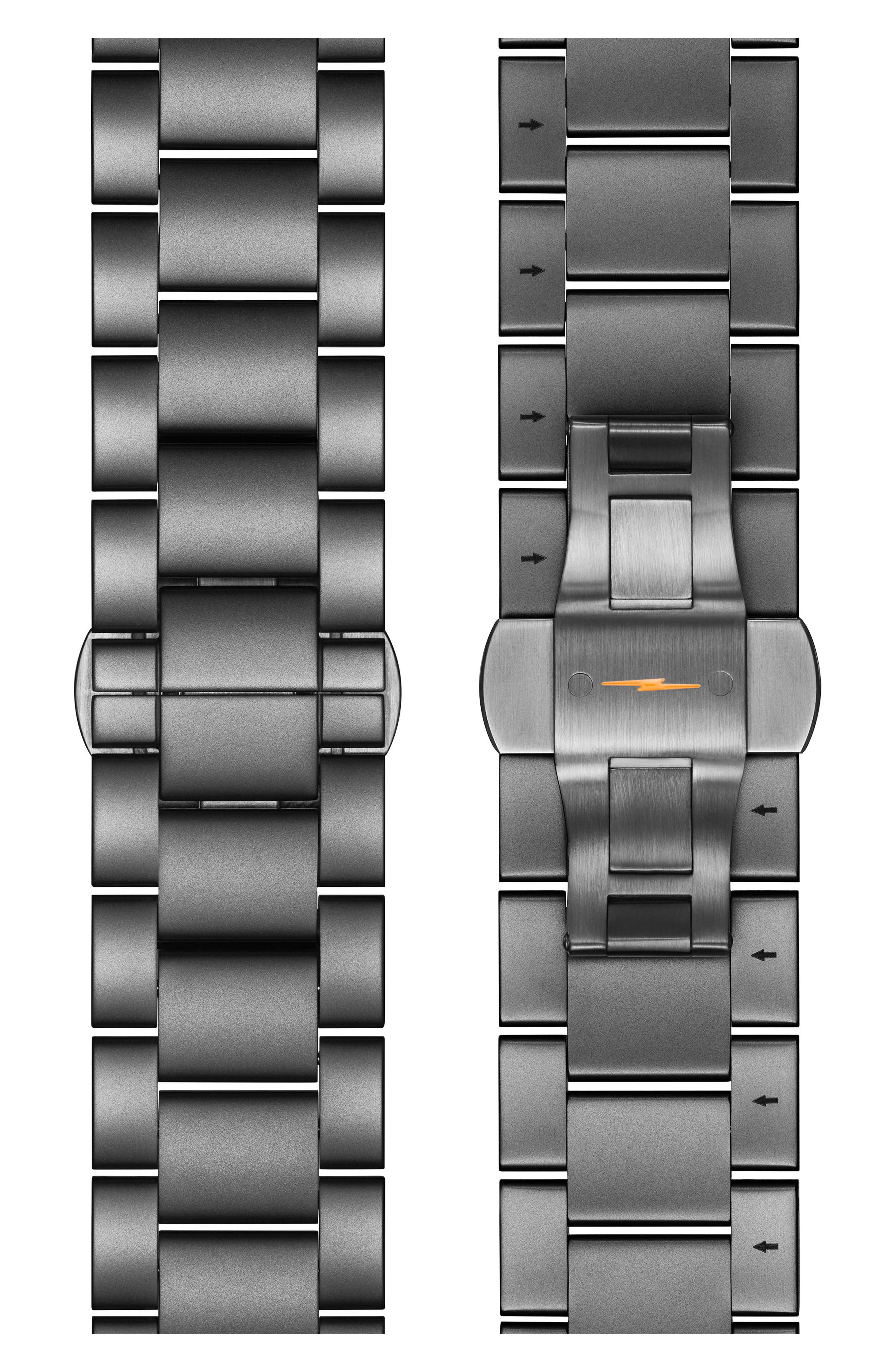 The Runwell Chronograph Bracelet Watch, 48mm,                             Alternate thumbnail 4, color,                             Gunmetal/ Stone/ Gunmetal