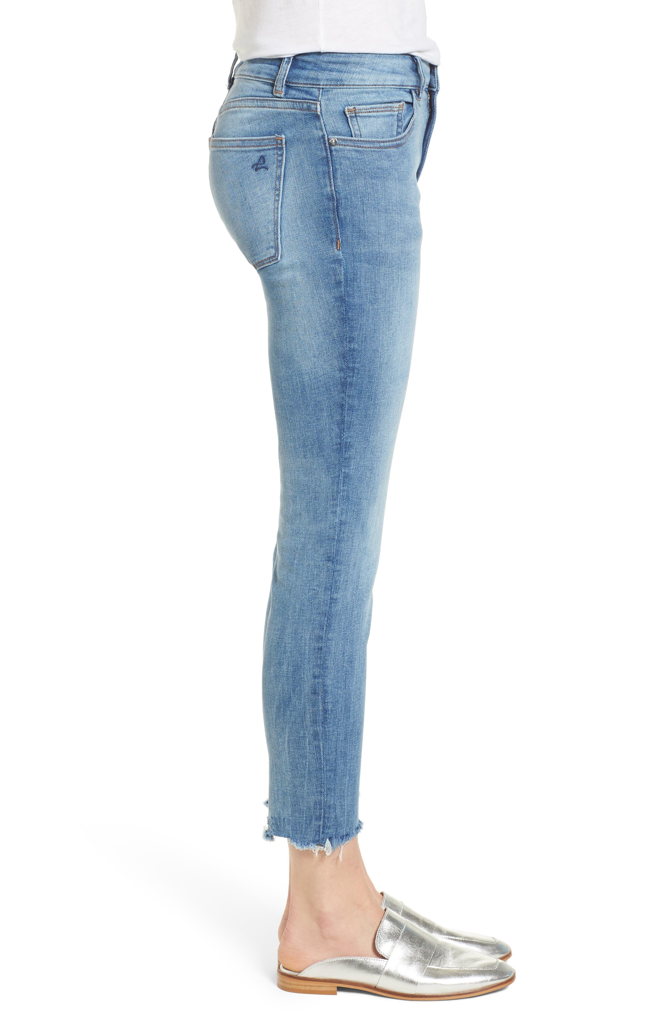 Florence Instasculpt Crop Skinny Jeans,                             Alternate thumbnail 3, color,                             Cavalier