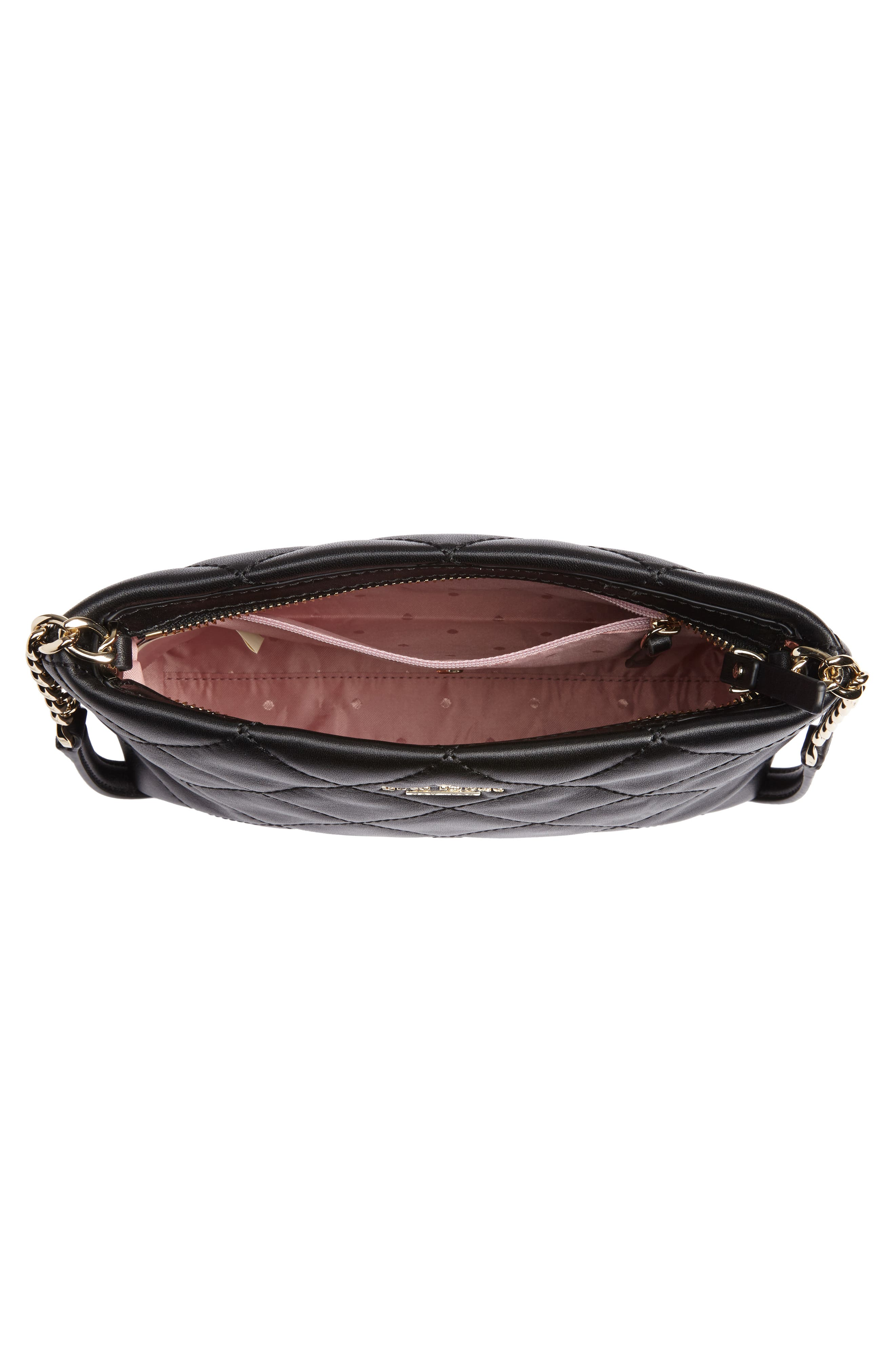 emerson place caterina leather crossbody bag,                             Alternate thumbnail 4, color,                             Black