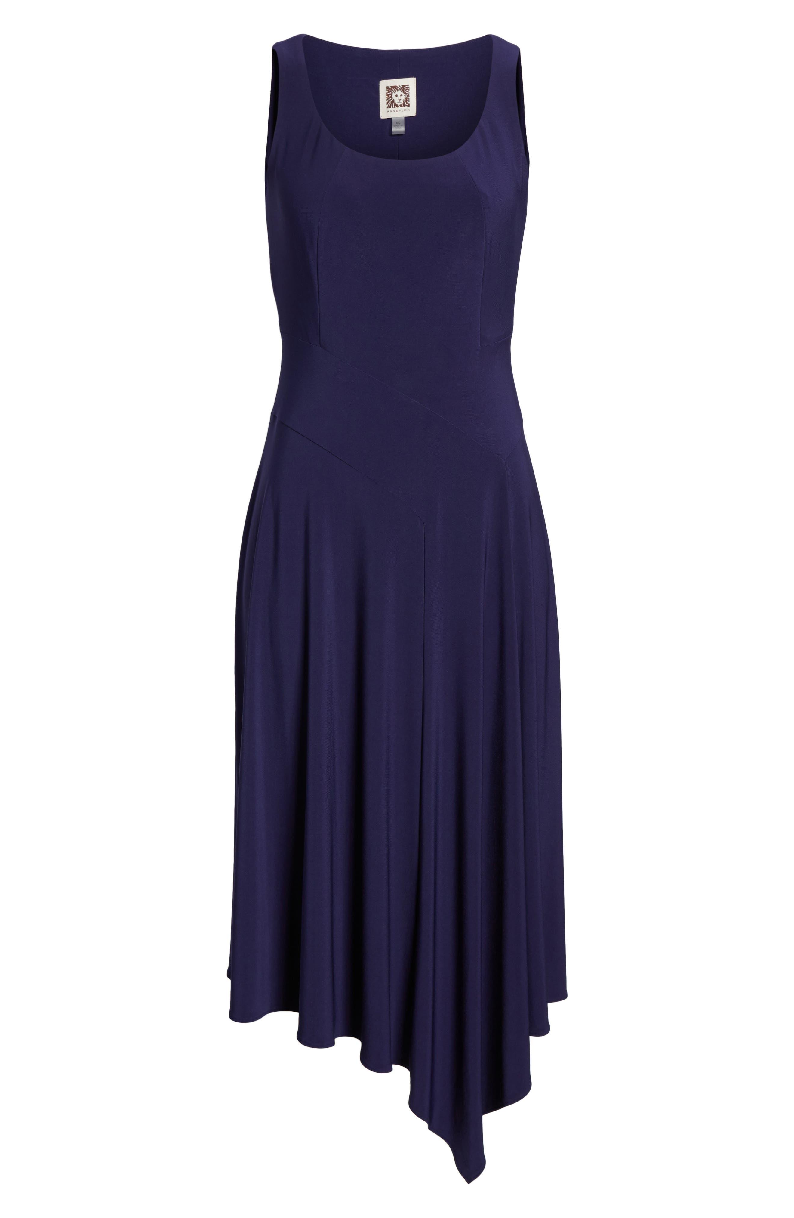 Asymmetrical Knit Dress,                             Alternate thumbnail 6, color,                             Monaco