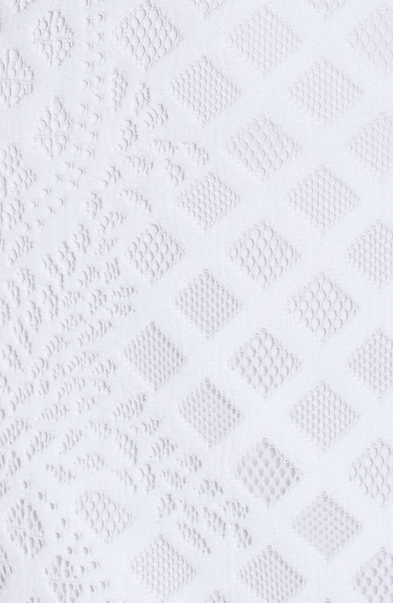 Pearl Maxi Dress,                             Alternate thumbnail 5, color,                             Resort White Pineapple Lace