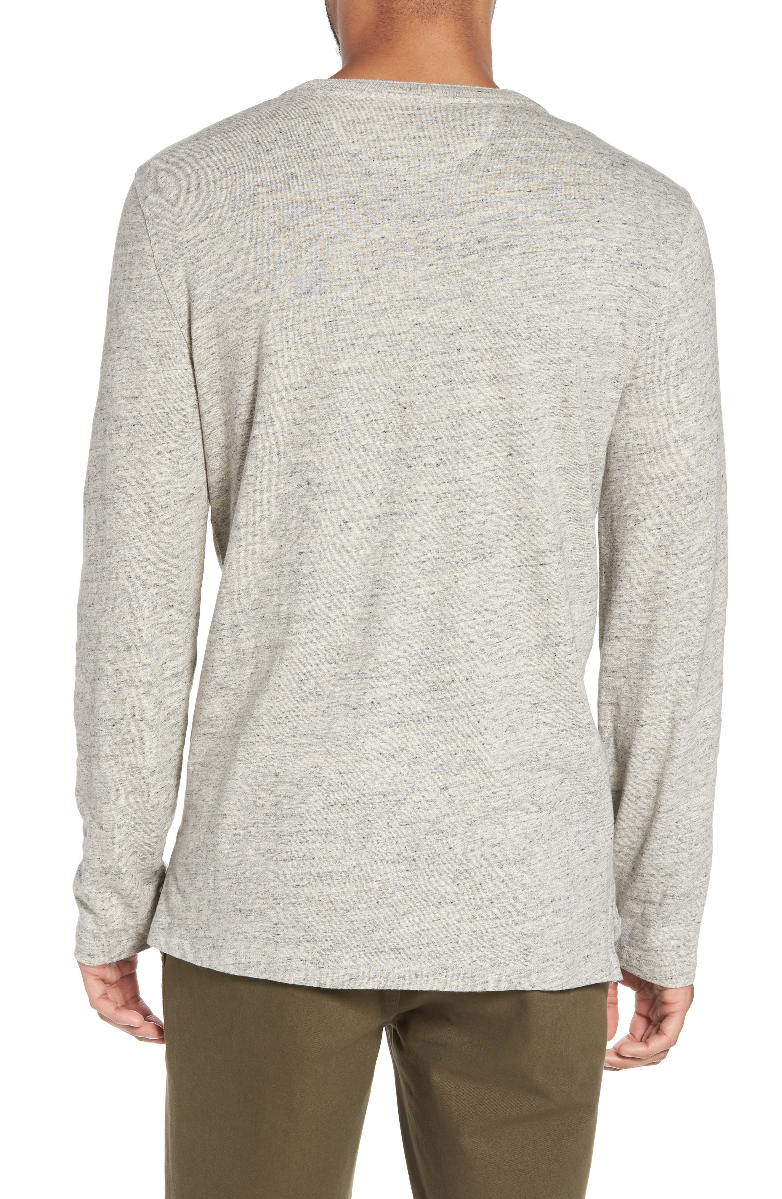 Military Slim Fit Henley,                             Alternate thumbnail 2, color,                             Grey