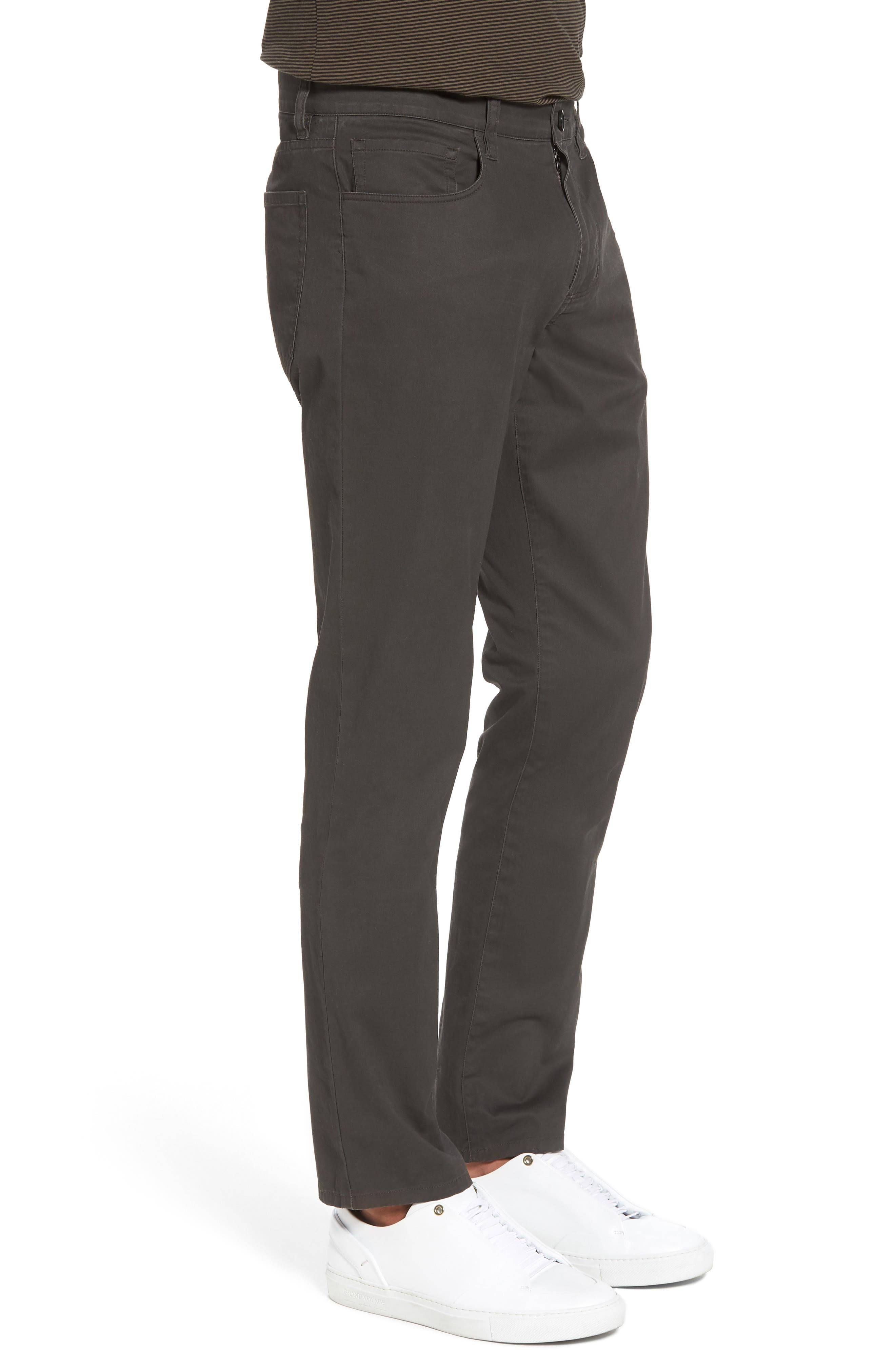 Slim Fit Five-Pocket Pants,                             Alternate thumbnail 3, color,                             Charcoal