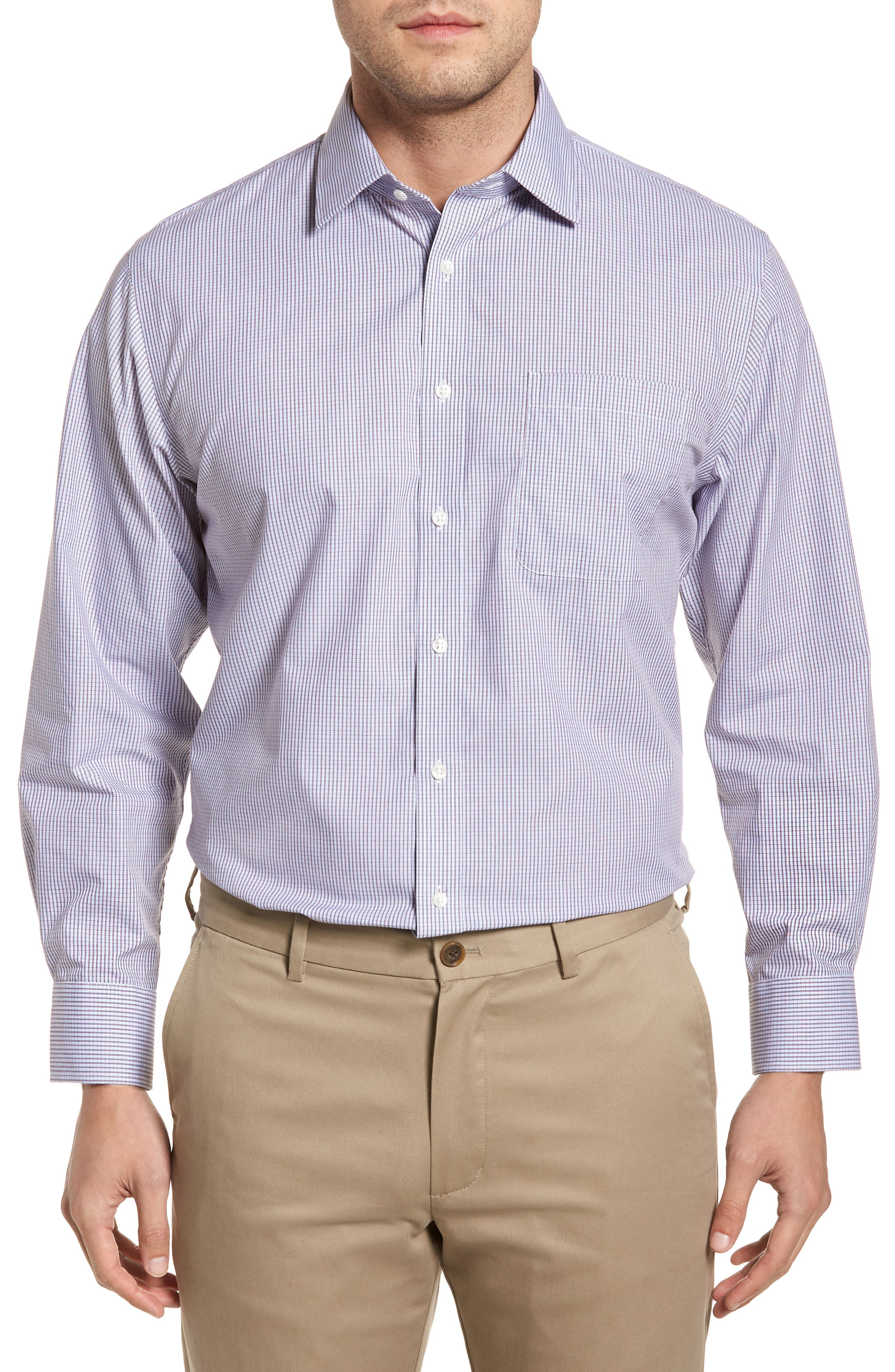 Nordstrom Men's Shop Traditional Fit Non-Iron Check Dress Shirt