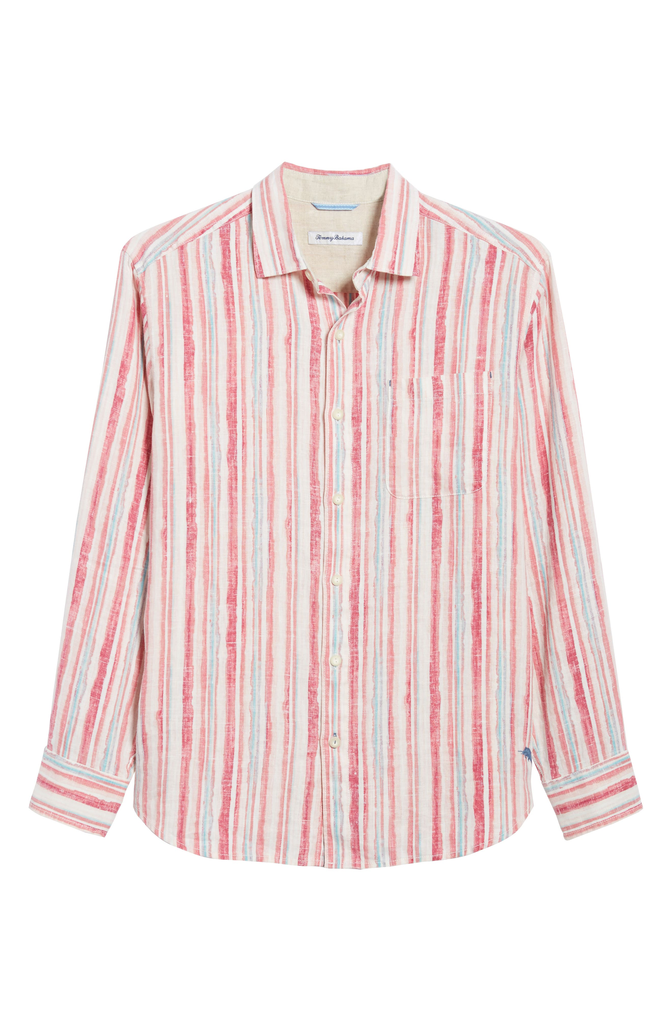 Alternate Image 6  - Tommy Bahama Watercrest Stripe Linen Sport Shirt