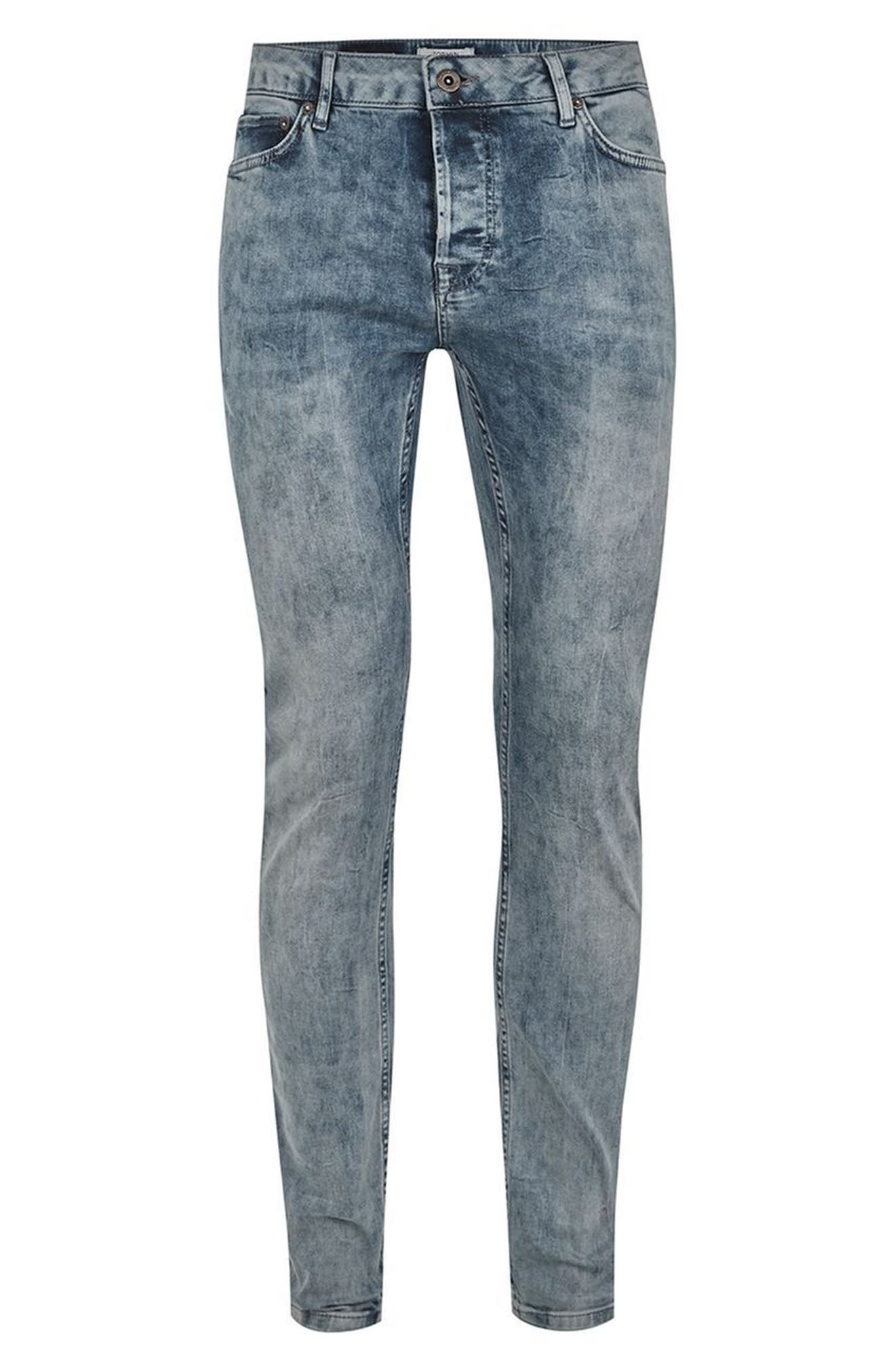 Stretch Skinny Fit Jeans,                             Alternate thumbnail 4, color,                             Grey