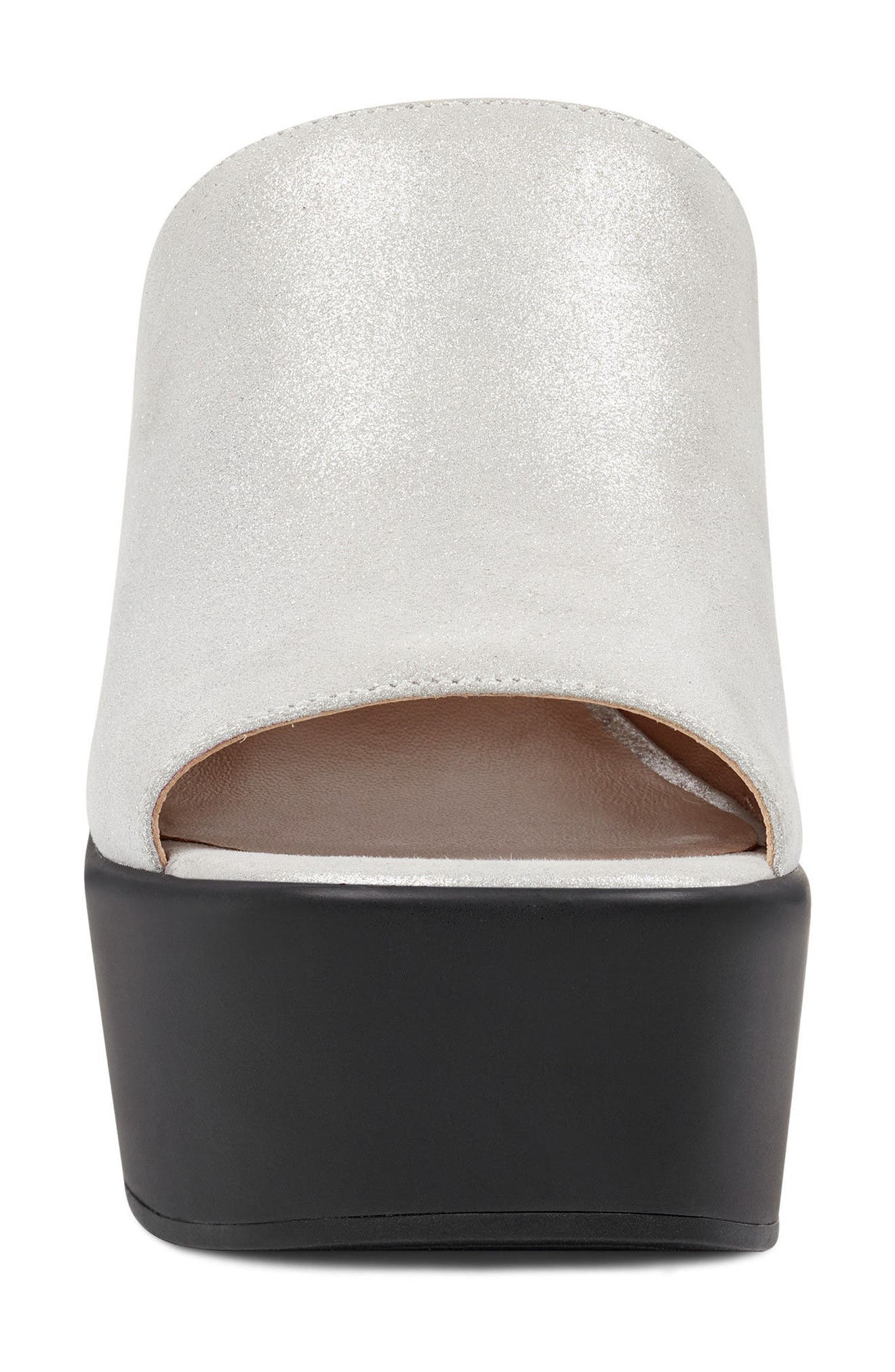 Tomo - 40th Anniversary Capsule Collection Platform Sandal,                             Alternate thumbnail 4, color,                             Light Silver Leather