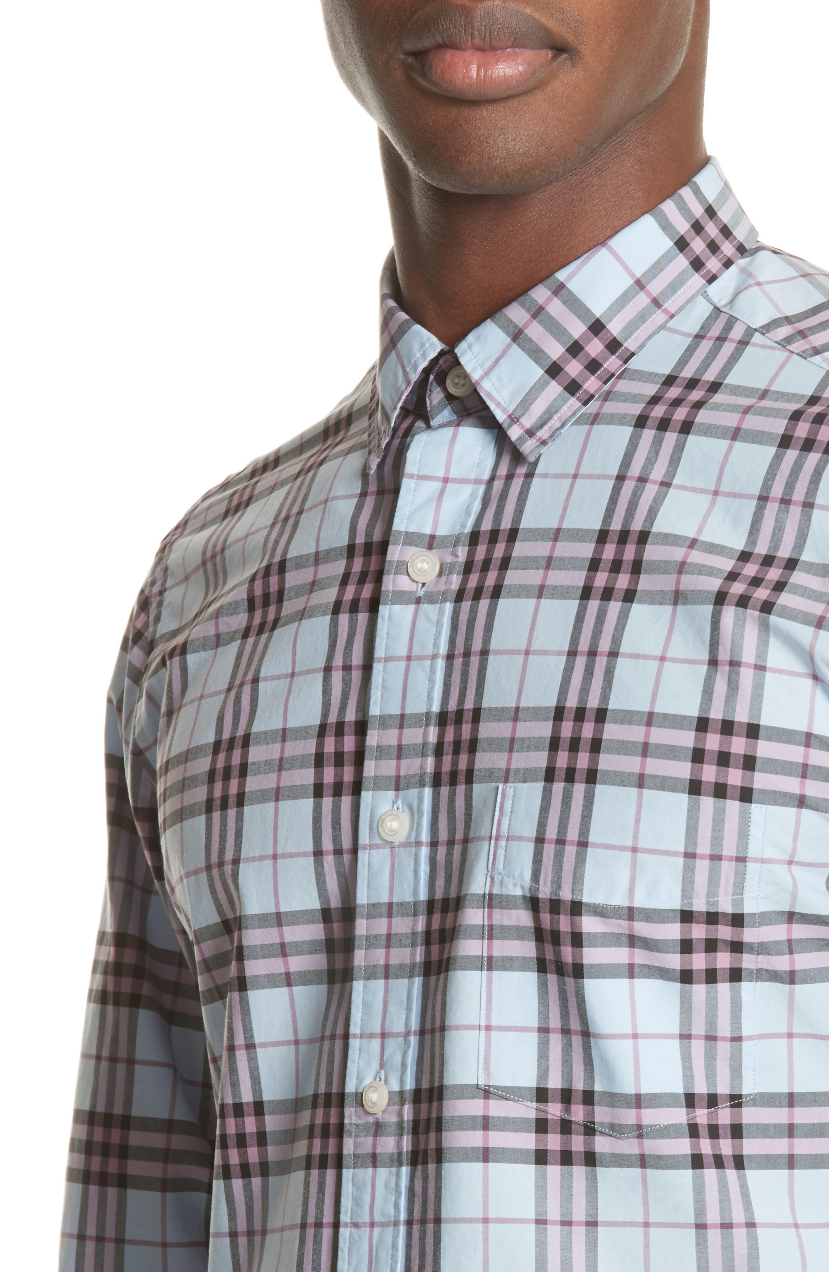 Alexander Standard Fit Check Sport Shirt,                             Alternate thumbnail 2, color,                             Lavender Blue