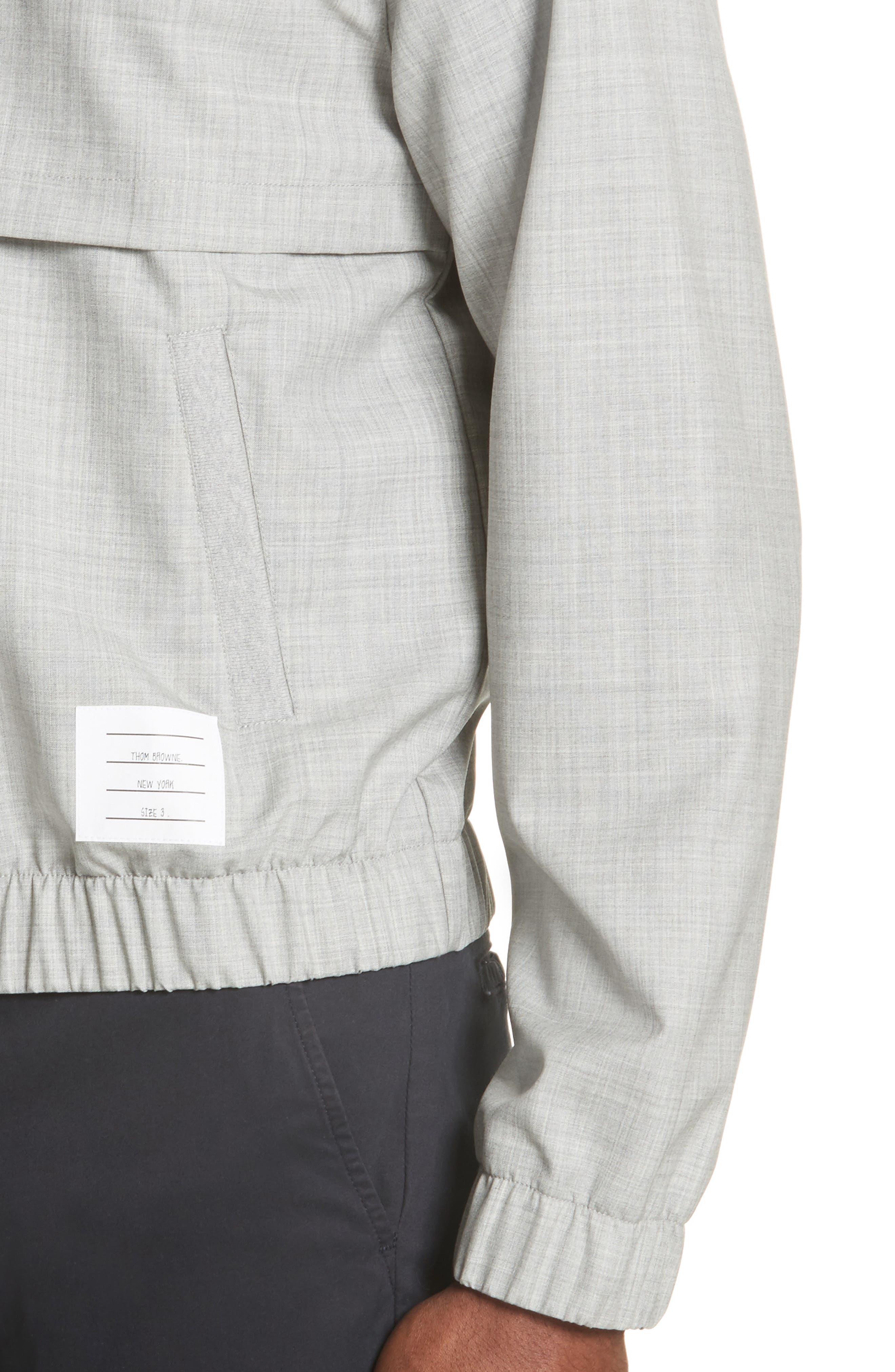 Lightweight Wool Bomber Jacket,                             Alternate thumbnail 4, color,                             Light Grey