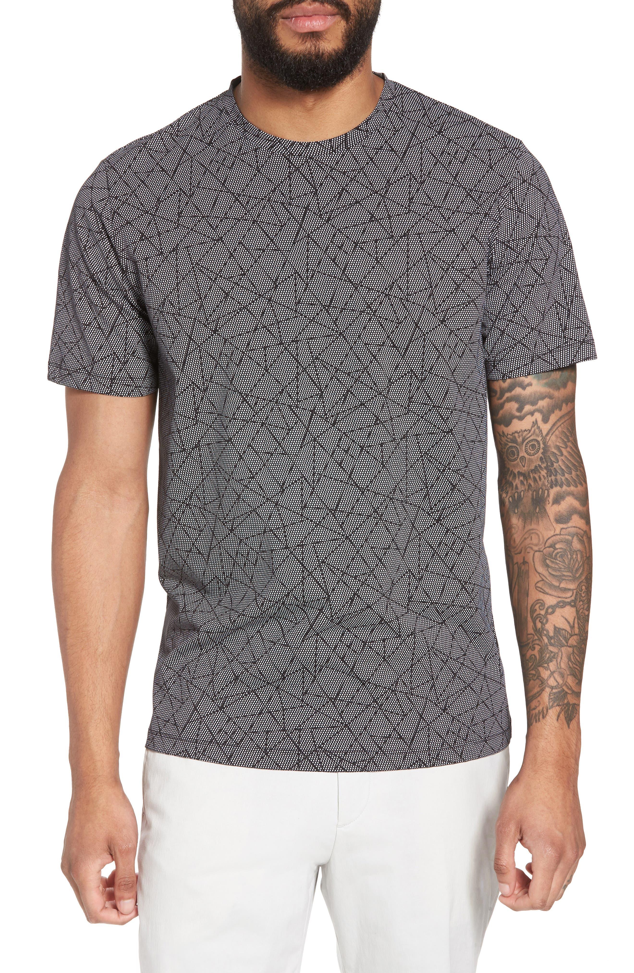 Clean T-Shirt,                         Main,                         color, Black/ White