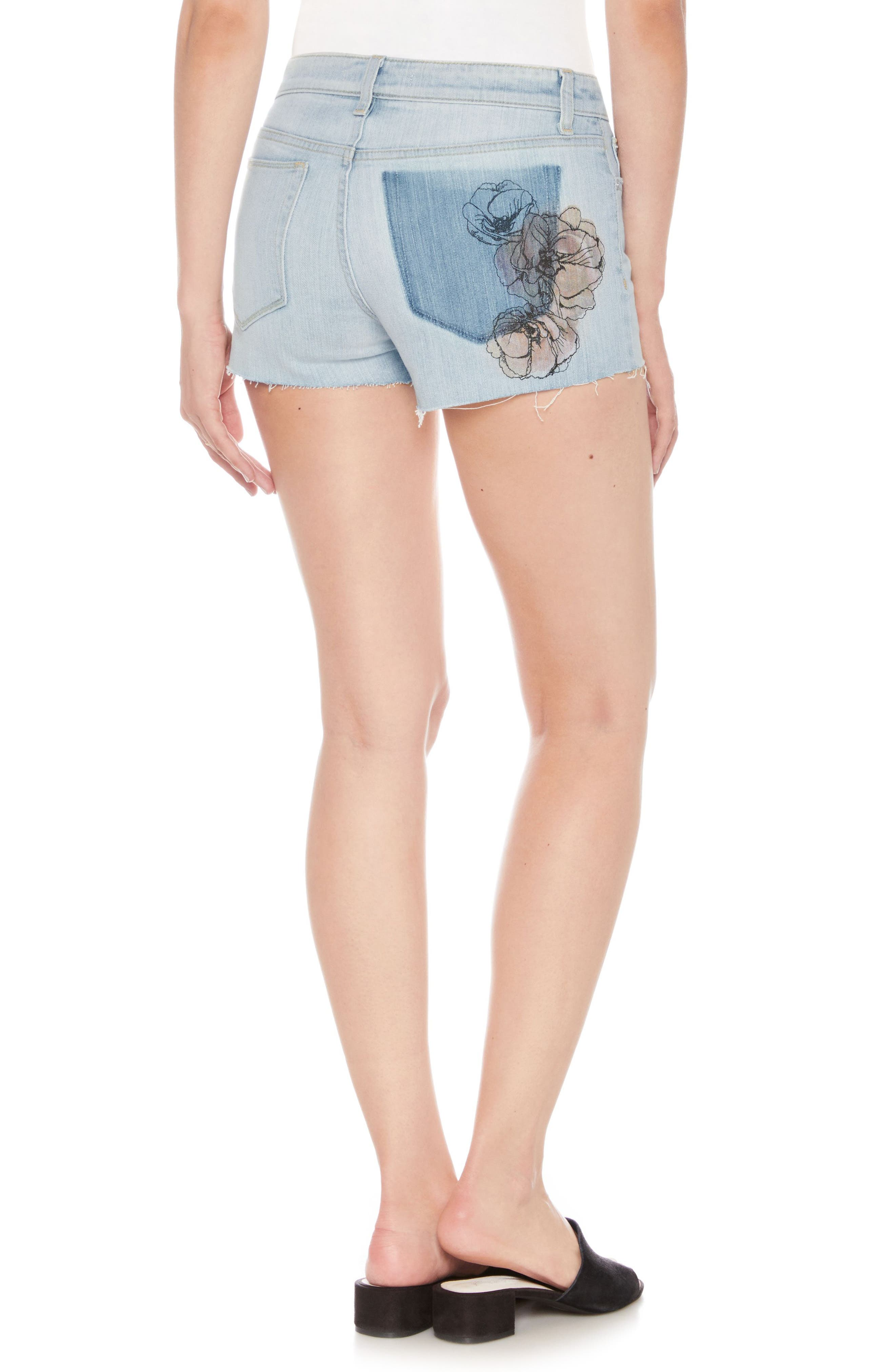 Cutoff Denim Shorts,                             Alternate thumbnail 2, color,                             Kelis