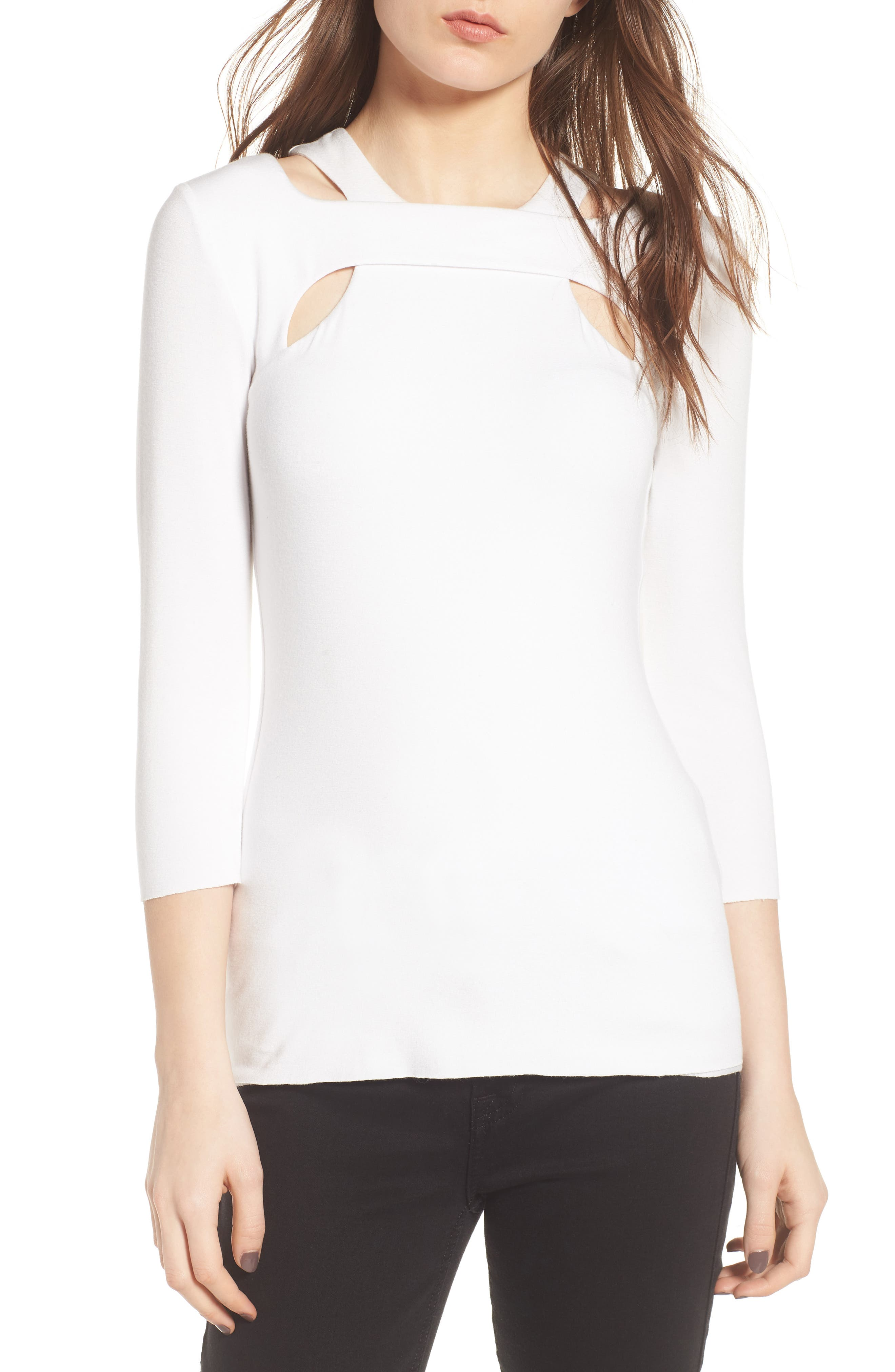 Bailey 44 Orchid Cutout Top